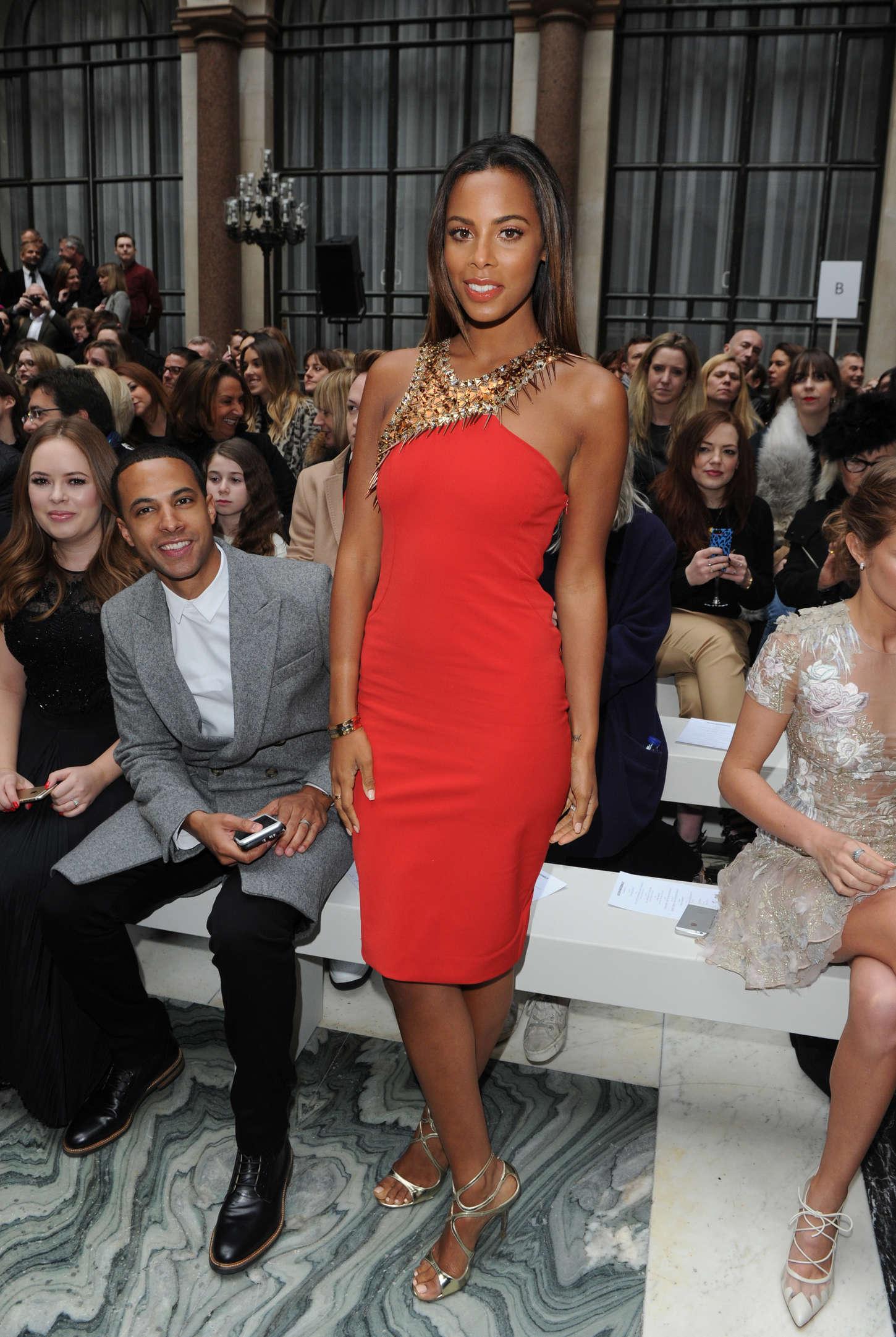 Rochelle Humes Julien Macdonald Fashion Show in London