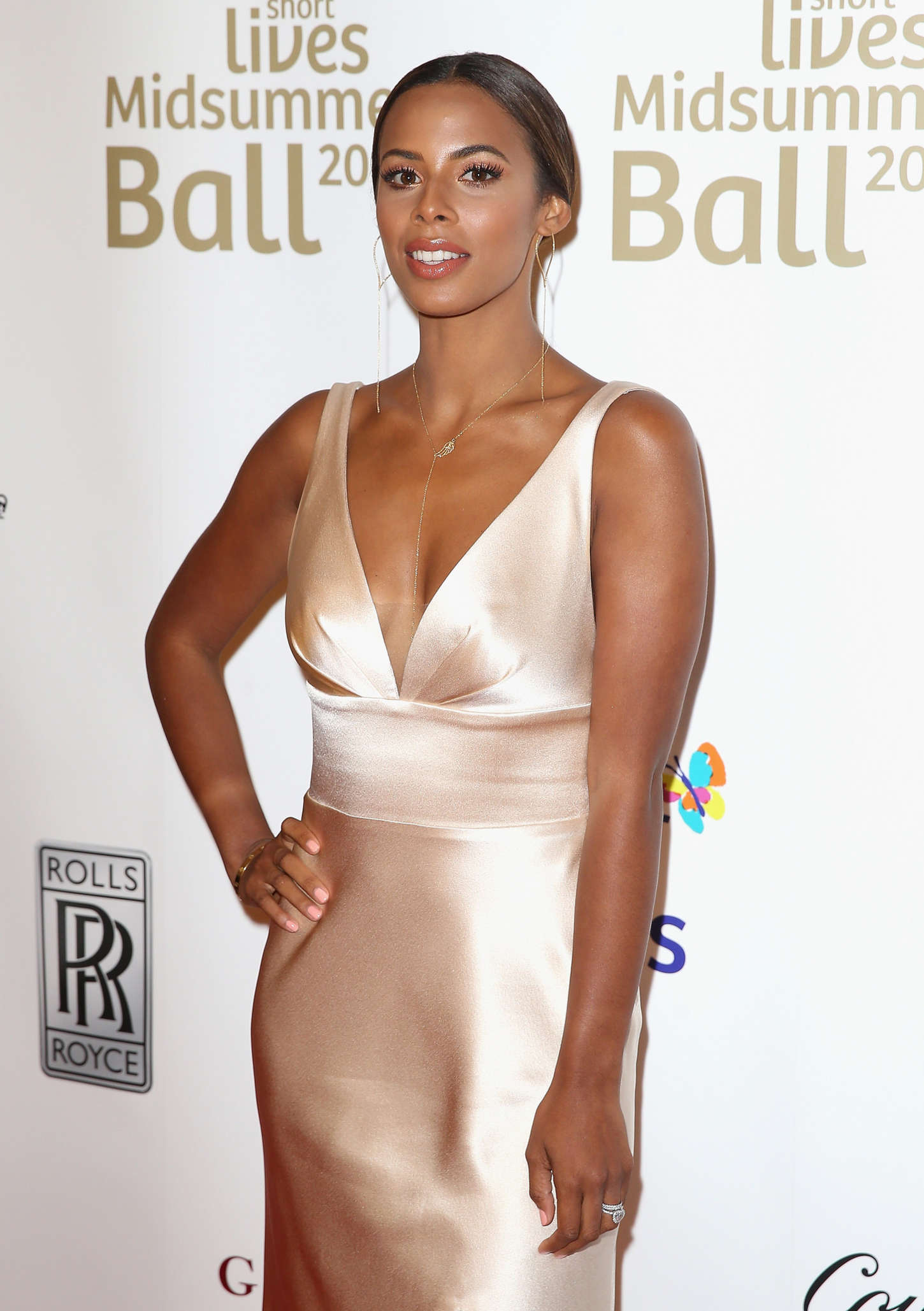 Rochelle Humes Together for Short Lives Midsummer Ball in London