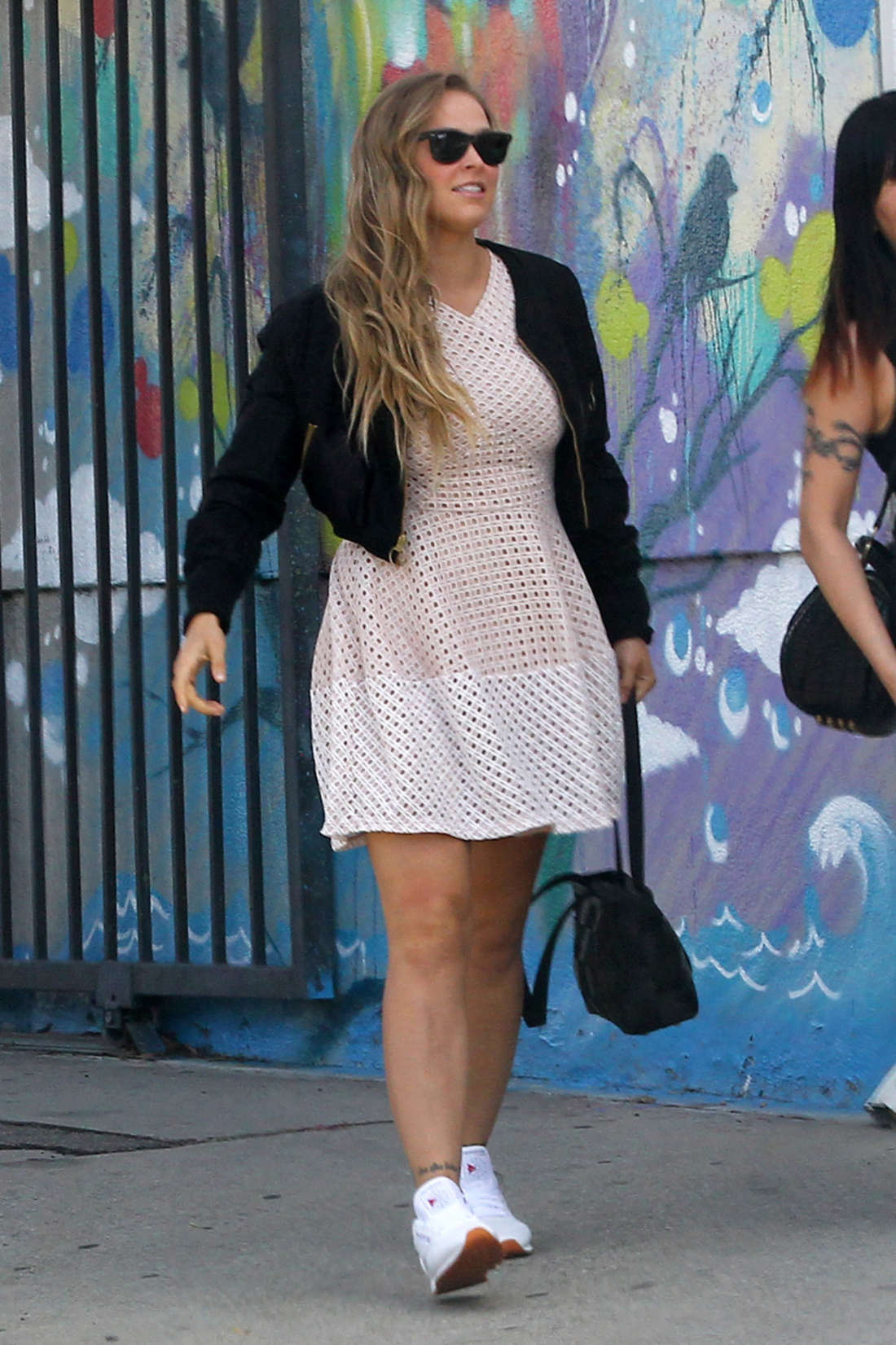 Ronda Rousey in Mini Dress out in Los Angeles