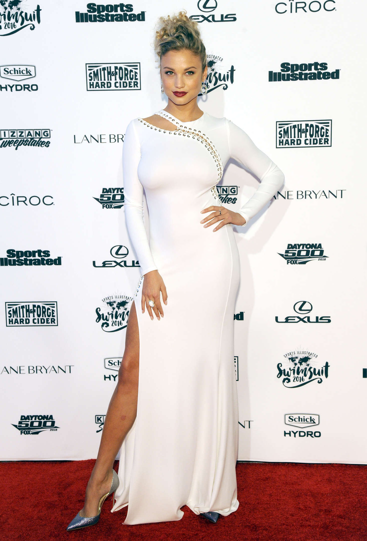 Rose Bertram Sports Illustrated Celebrates Swimsuit VIP Red Carpet Event in New York