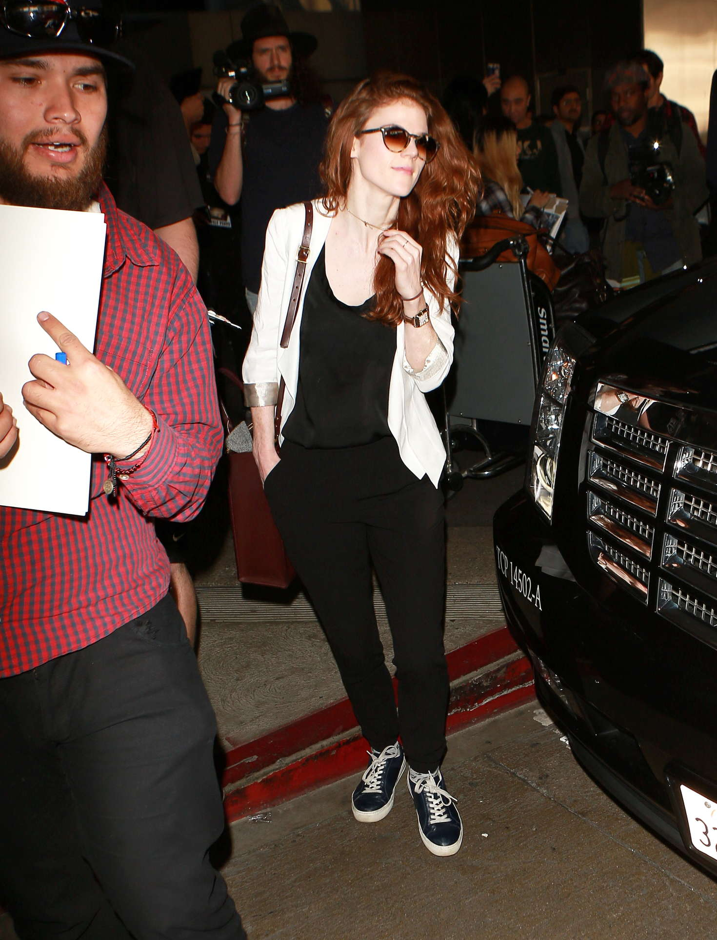Rose Leslie and Kit Harington at LAX Airport in Los Angeles