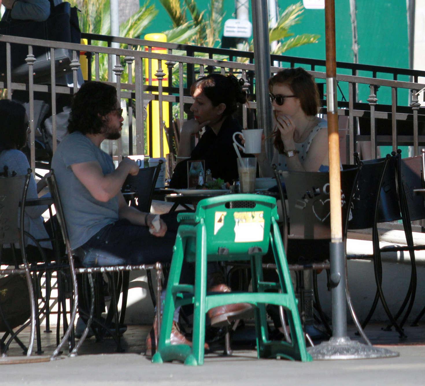 Rose Leslie at Urth Caffe in West Hollywood