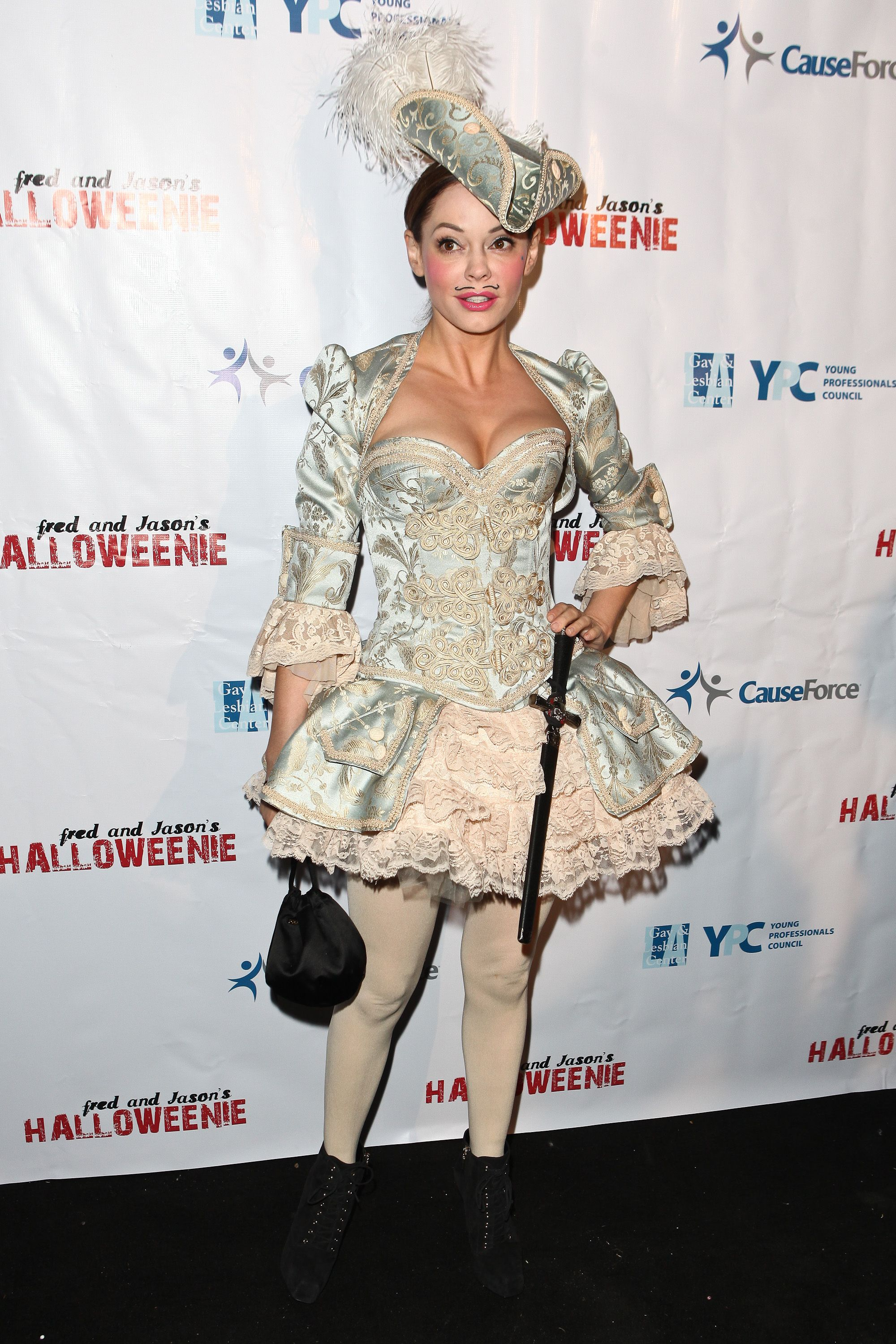 Rose McGowan at Los Angeles Gay and Lesbian Centers Annual Halloweenie Party