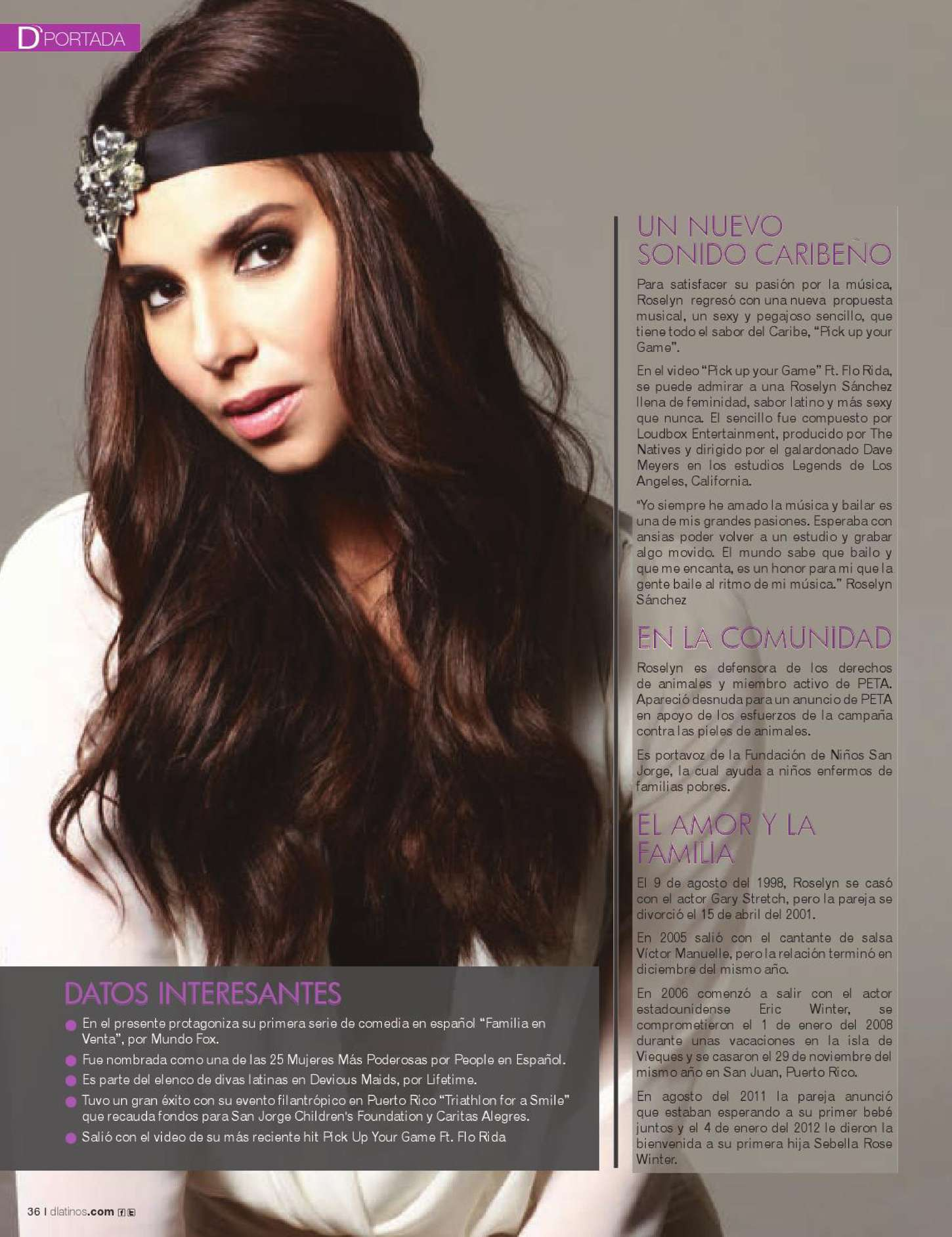 Roselyn Sanchez DLatinos Magazine