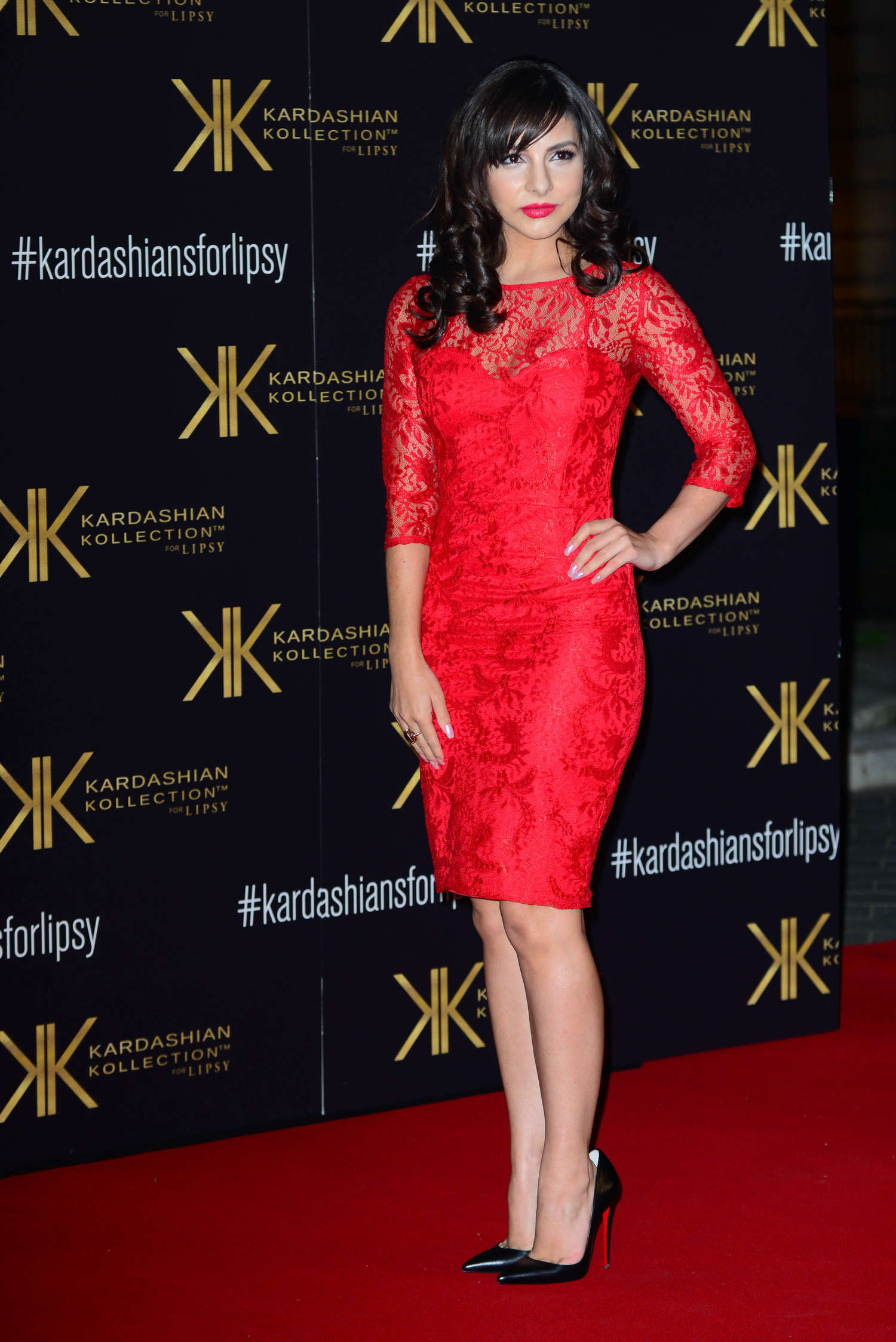 Roxanne Pallett Kardashian Kollection for Lipsy launch party in London