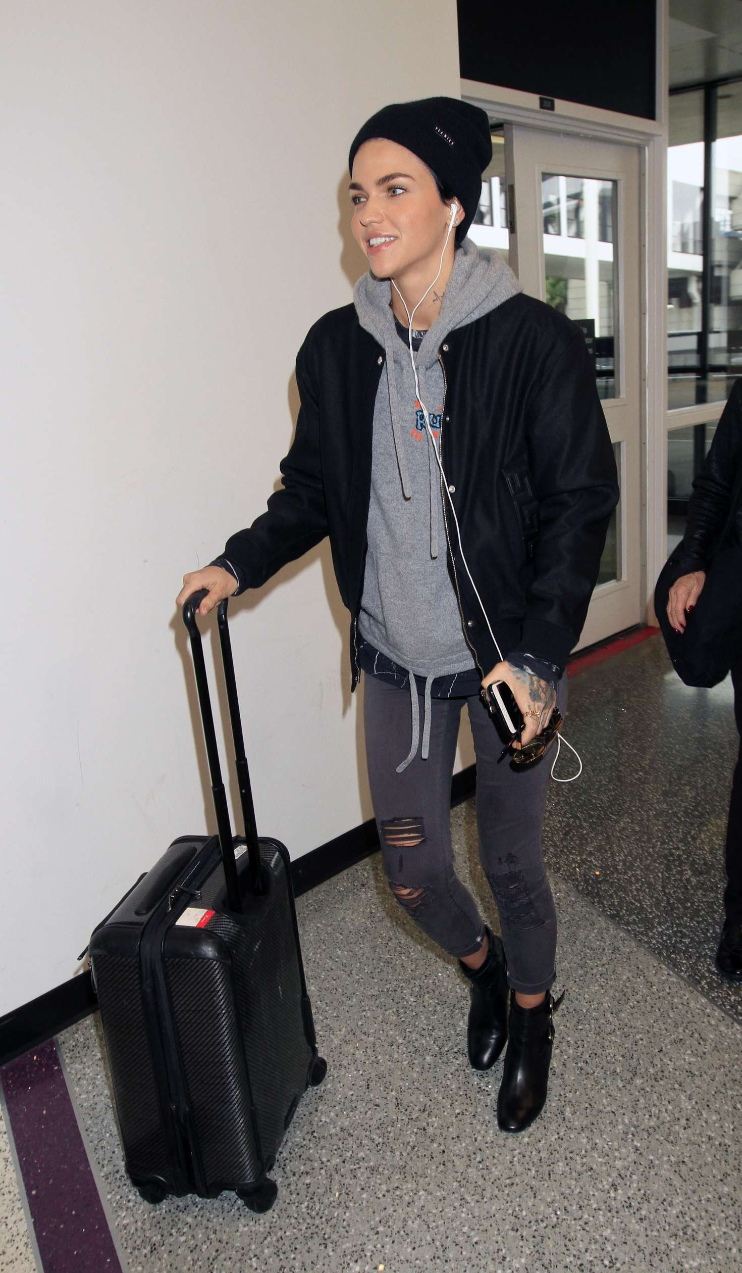 Ruby Rose Arrives at LAX in Los Angele