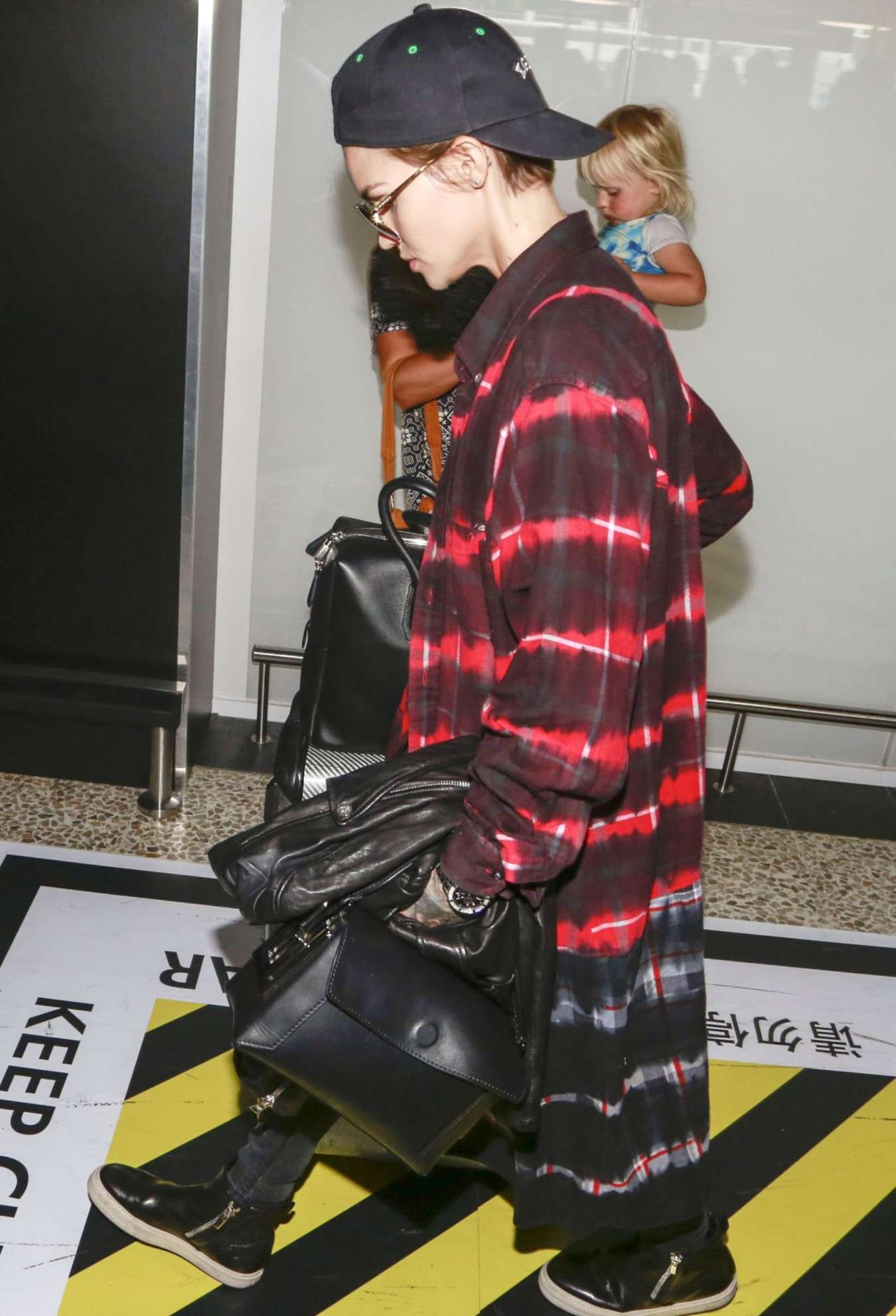Ruby Rose Arrives into Melbourne Airport