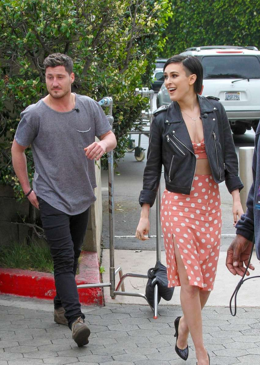 Rumer Willis On the set of Extra in Los Angeles