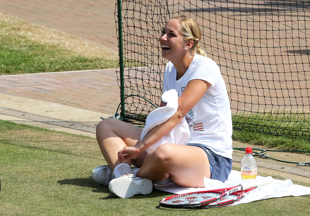 Sabine Lisicki at a practice session in London