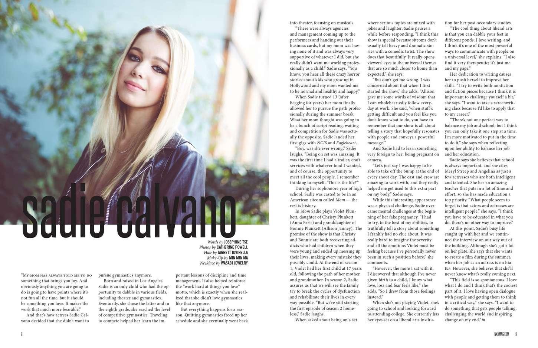 Sadie Calvano NKD Magazine