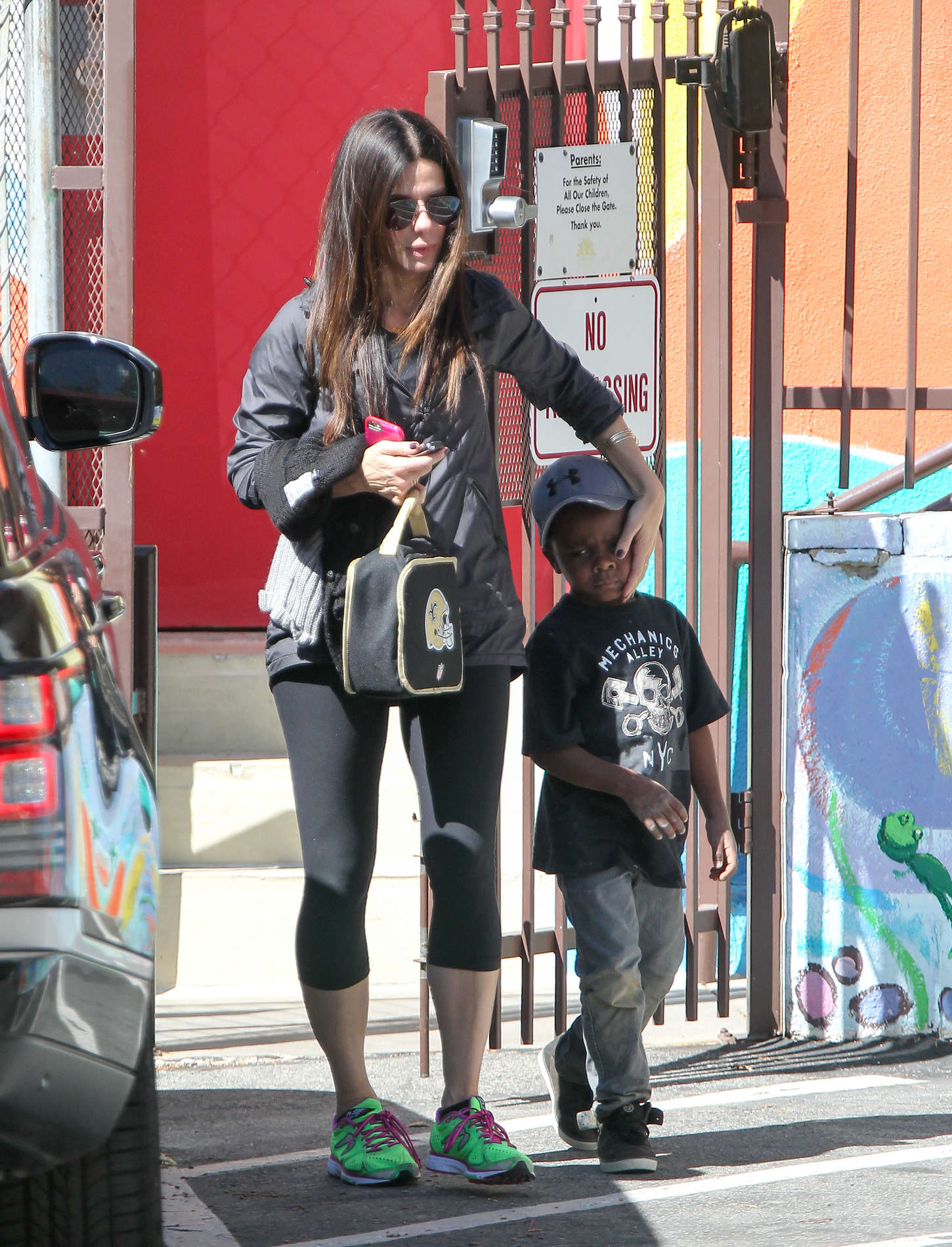 Sandra Bullock go out in Los Angeles
