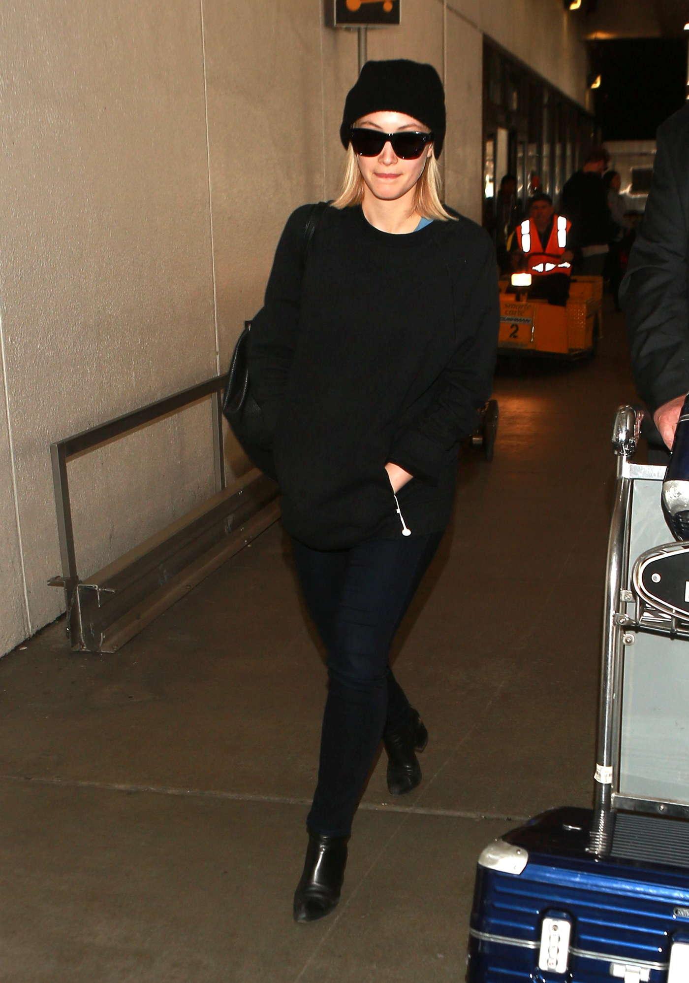 Sarah Gadon Arrives at LAX Airport in Los Angeles