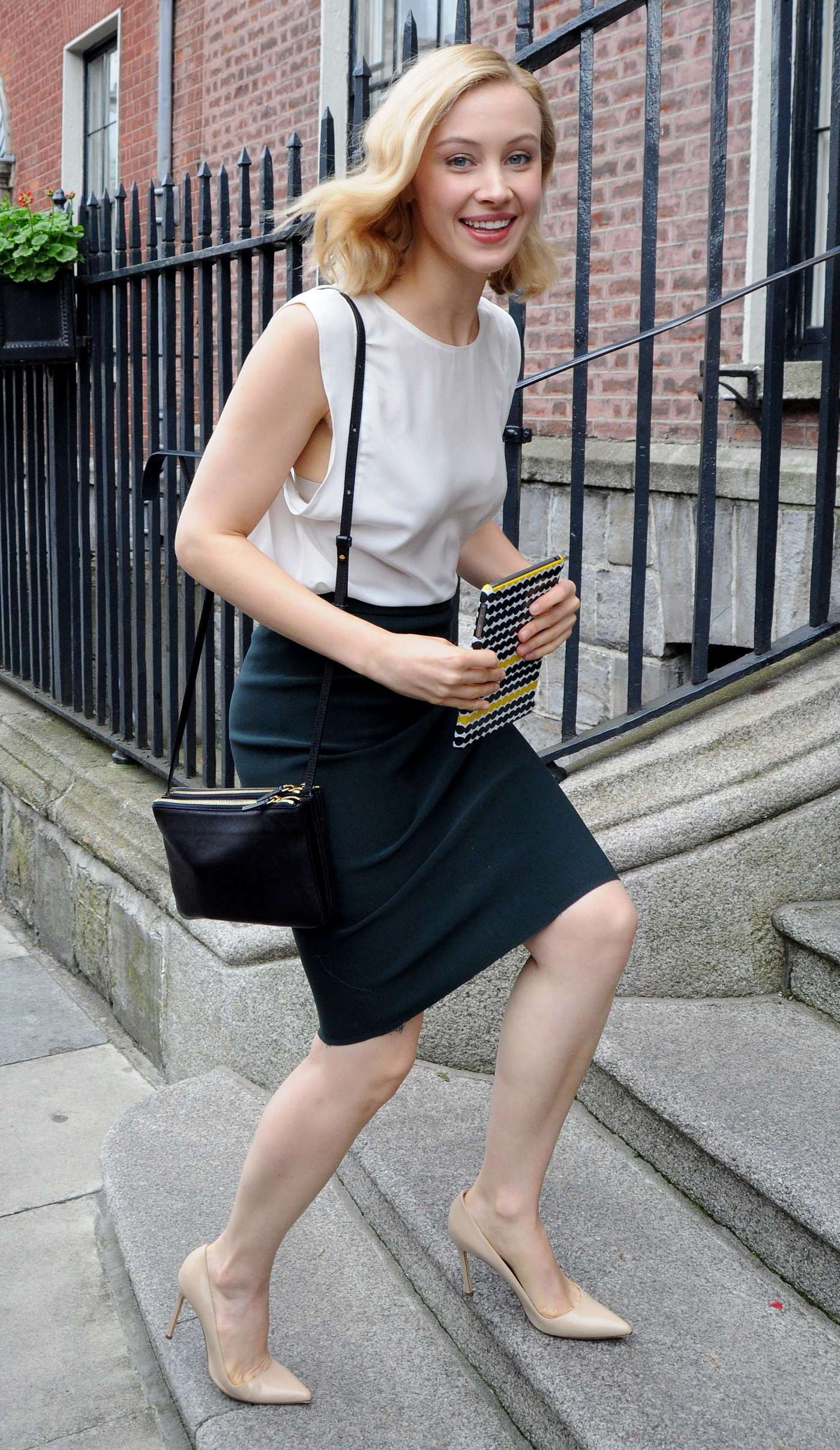 Sarah Gadon at The Merrion Hotel in Dublin