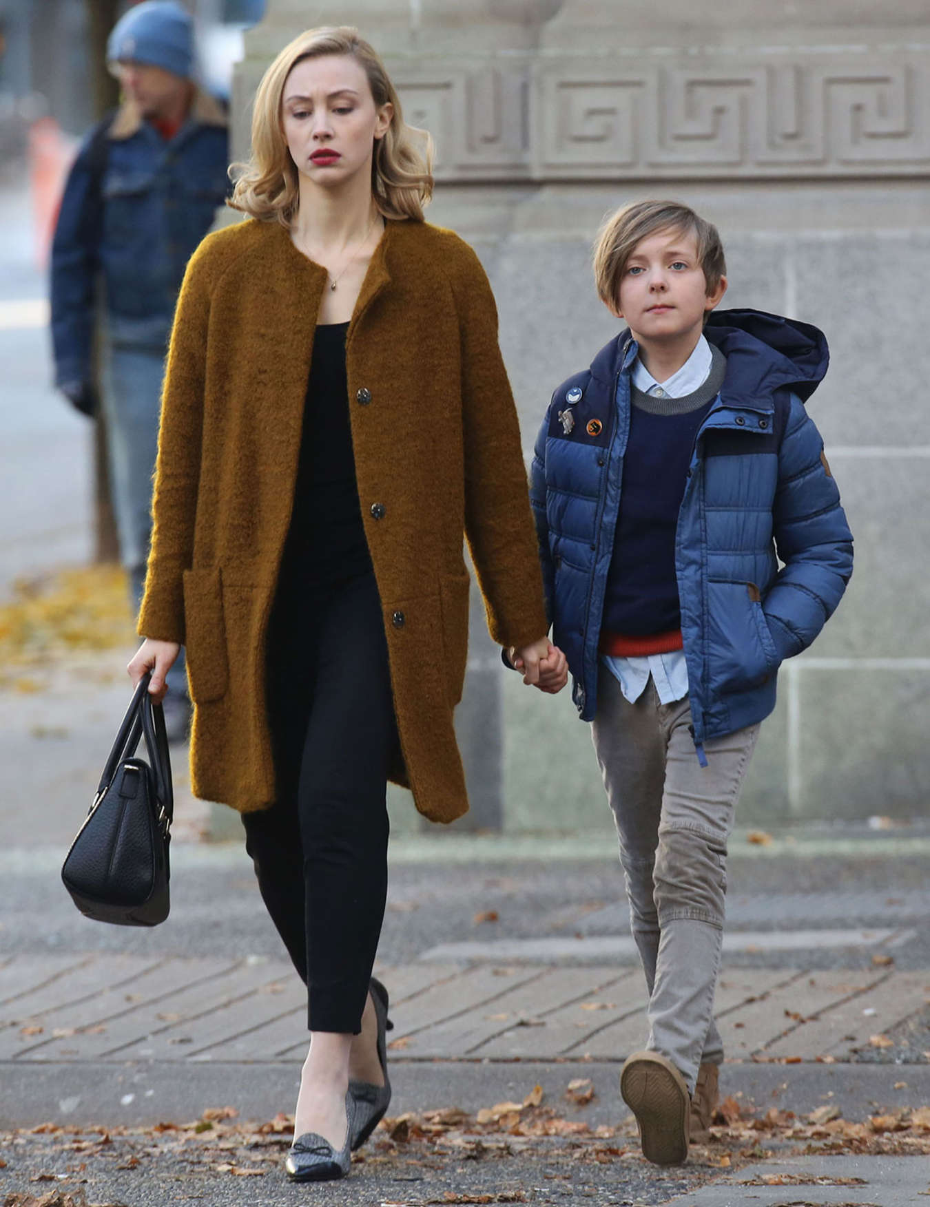 Sarah Gadon on set The Life of Louis Drax in Vancouver