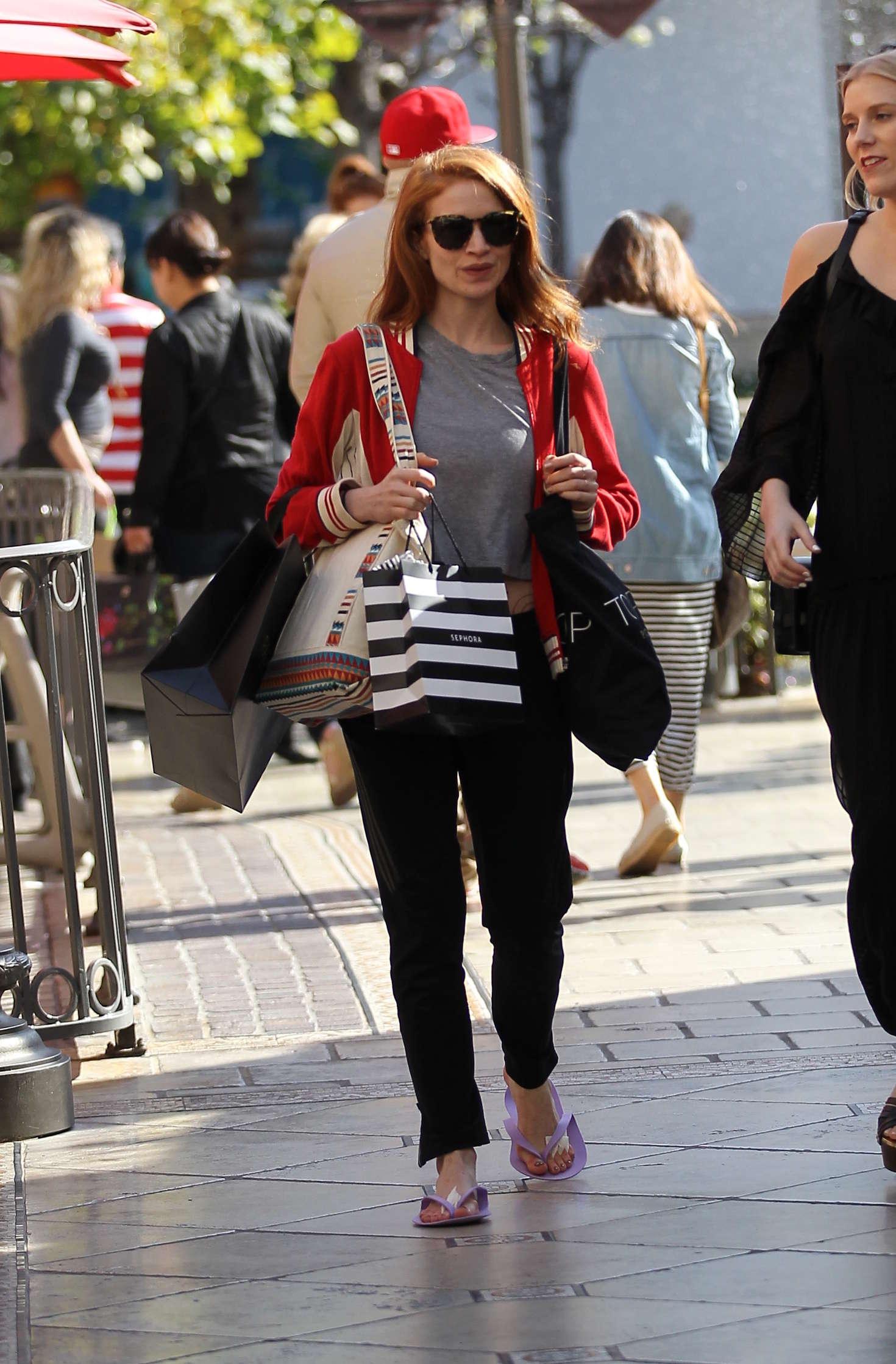 Sarah Hay Shopping at the Grove in Hollywood