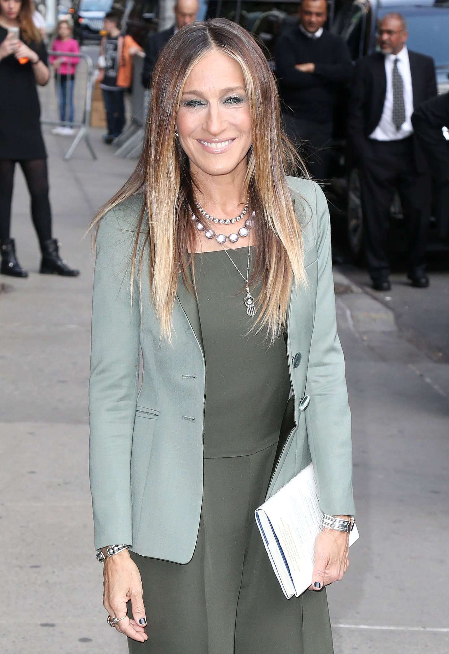 Sarah Jessica Parker Arriving at The Late Show with David Letterman in New York