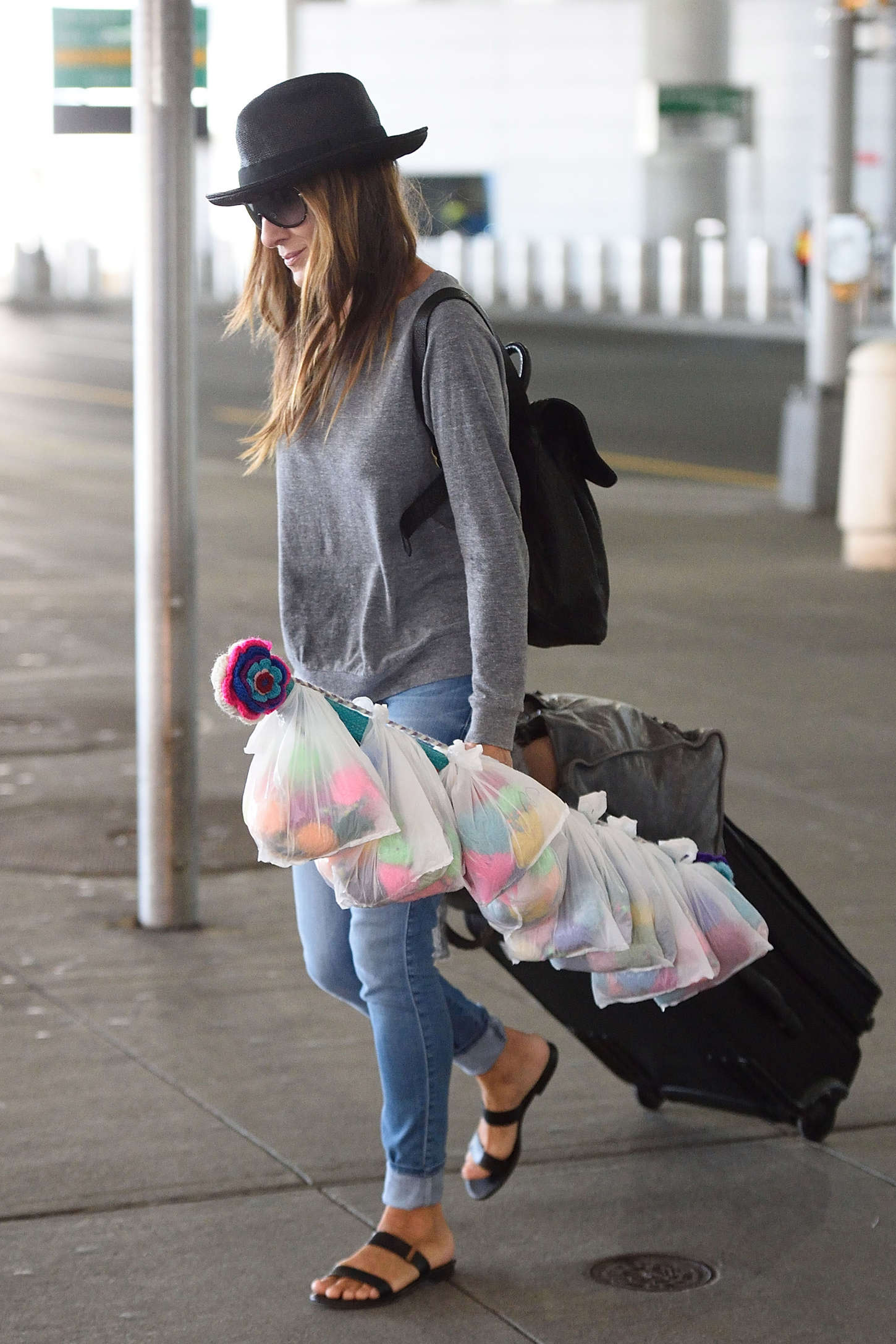 Sarah Jessica Parker at JFK airport in New York