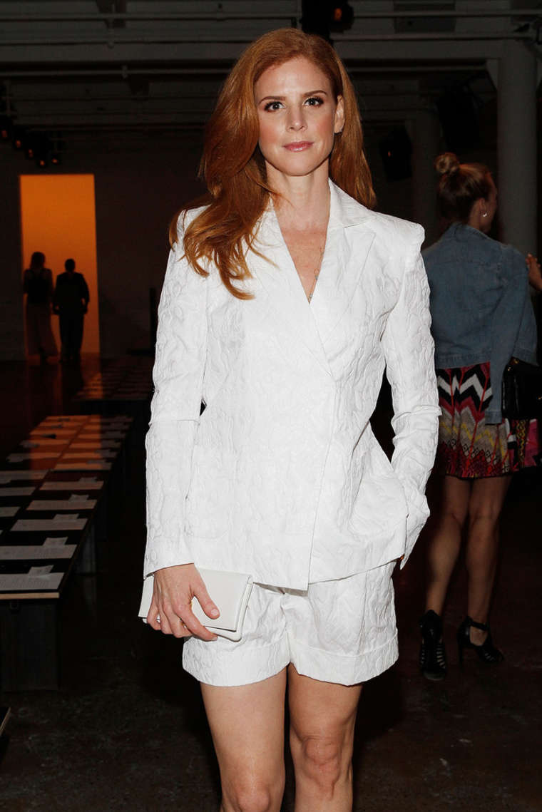 Sarah Rafferty Houghton Fashion Show in New York