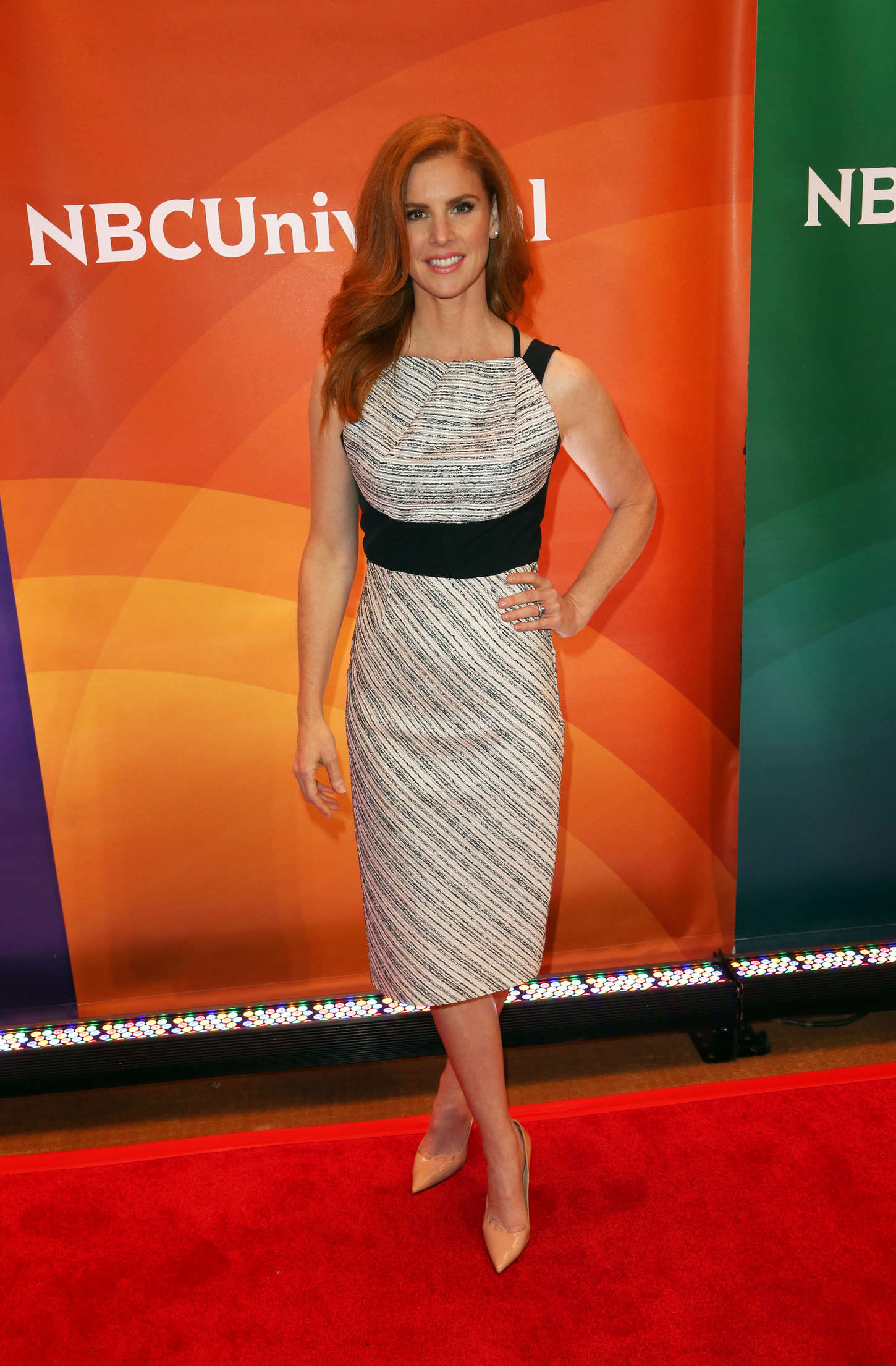 Sarah Rafferty NBC New York Summer Press Day in New York