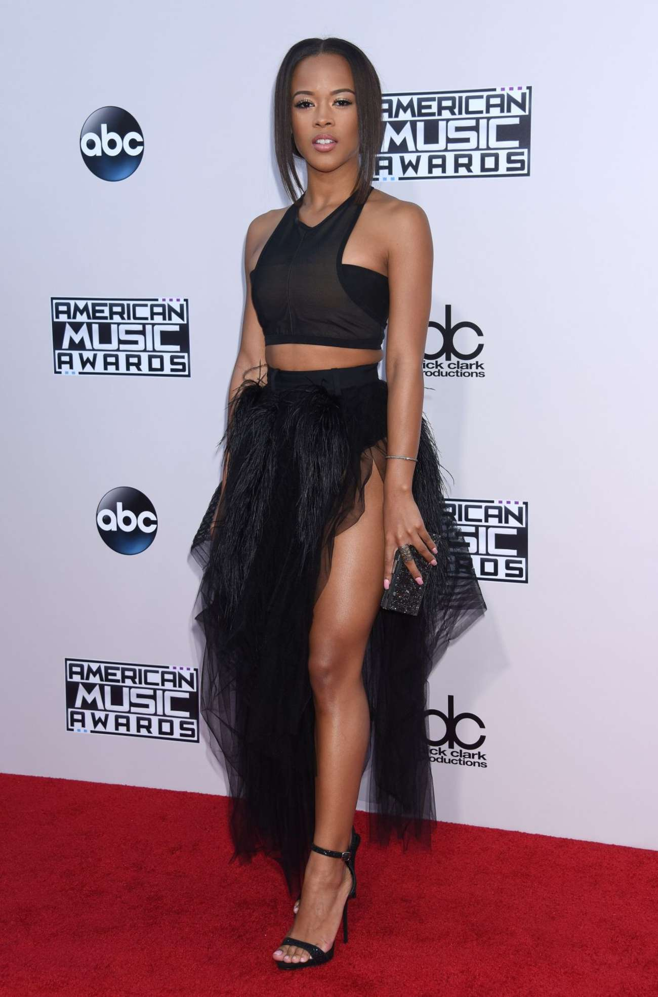 Serayah Mcneill American Music Awards in Los Angeles