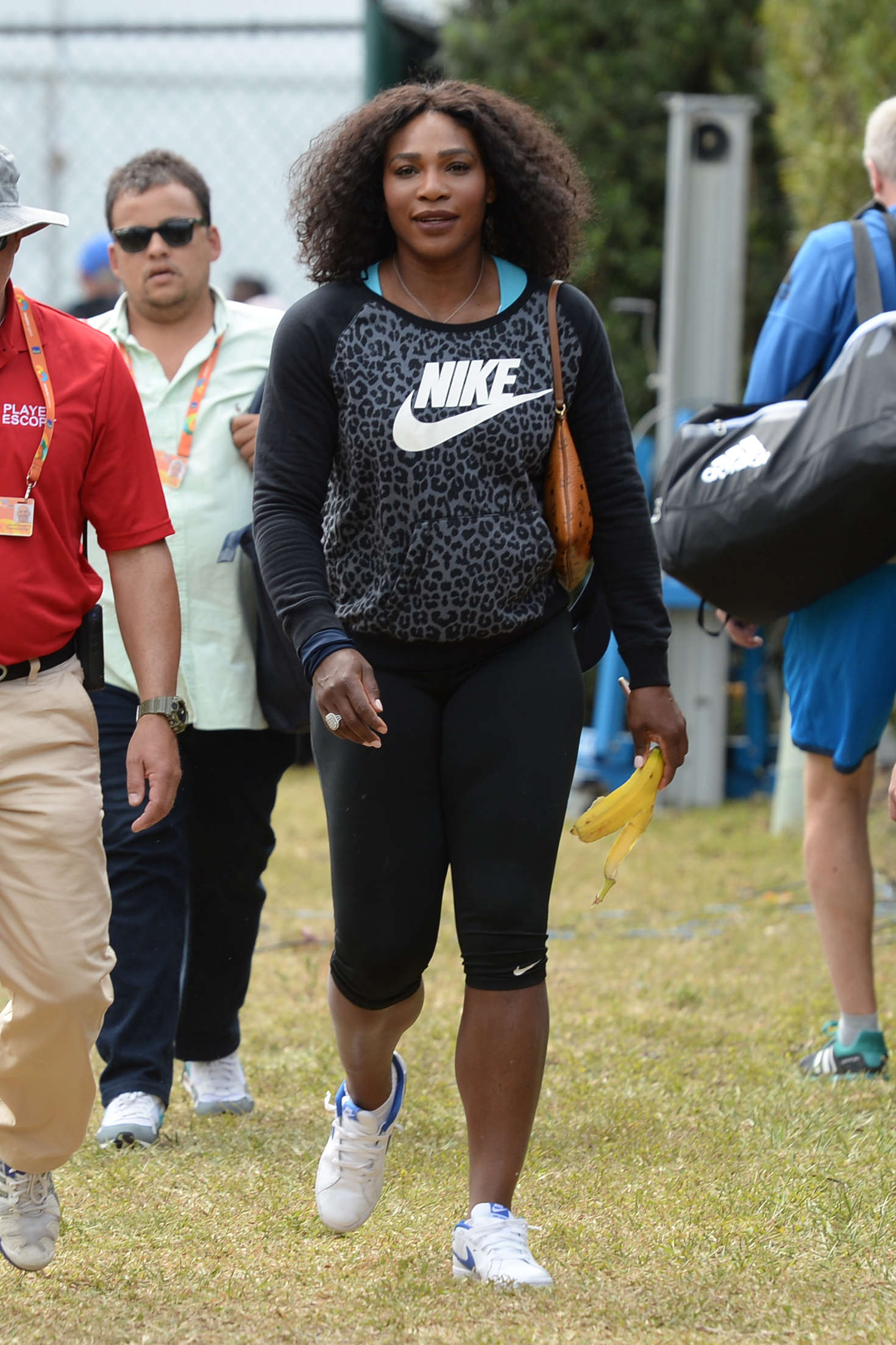 Serena Williams in Tights at The Miami Open in Key Biscayne