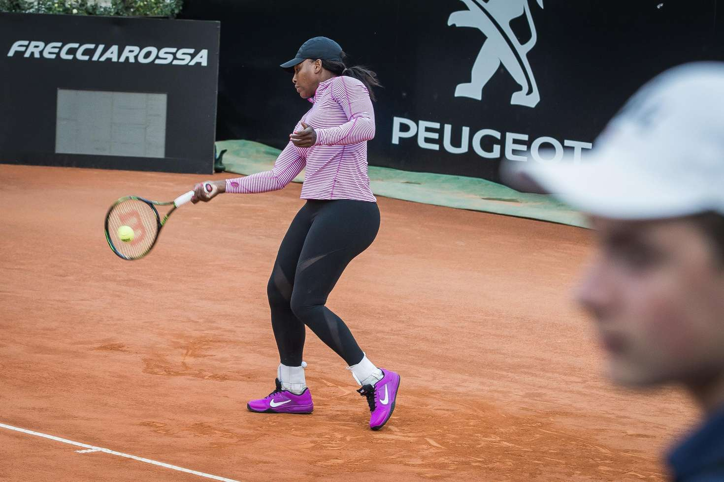 Serena Williams Training at the Center Court in Rome