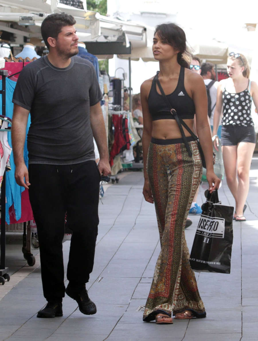 Shanina Shaik Shopping in Ibiza