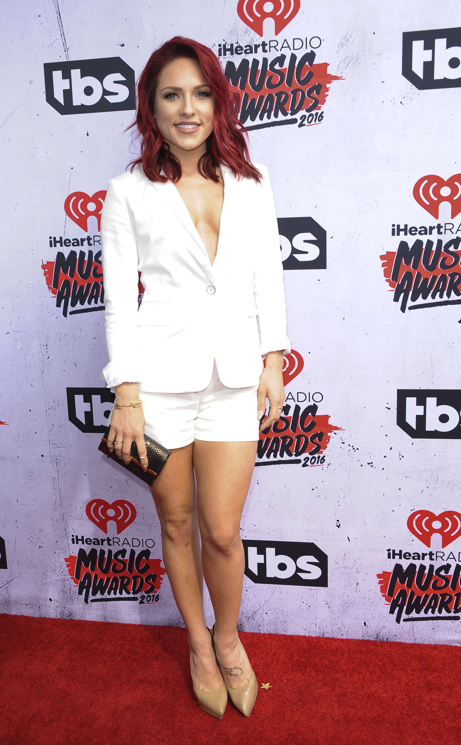 Sharna Burgess iHeartRadio Music Awards in Los Angeles