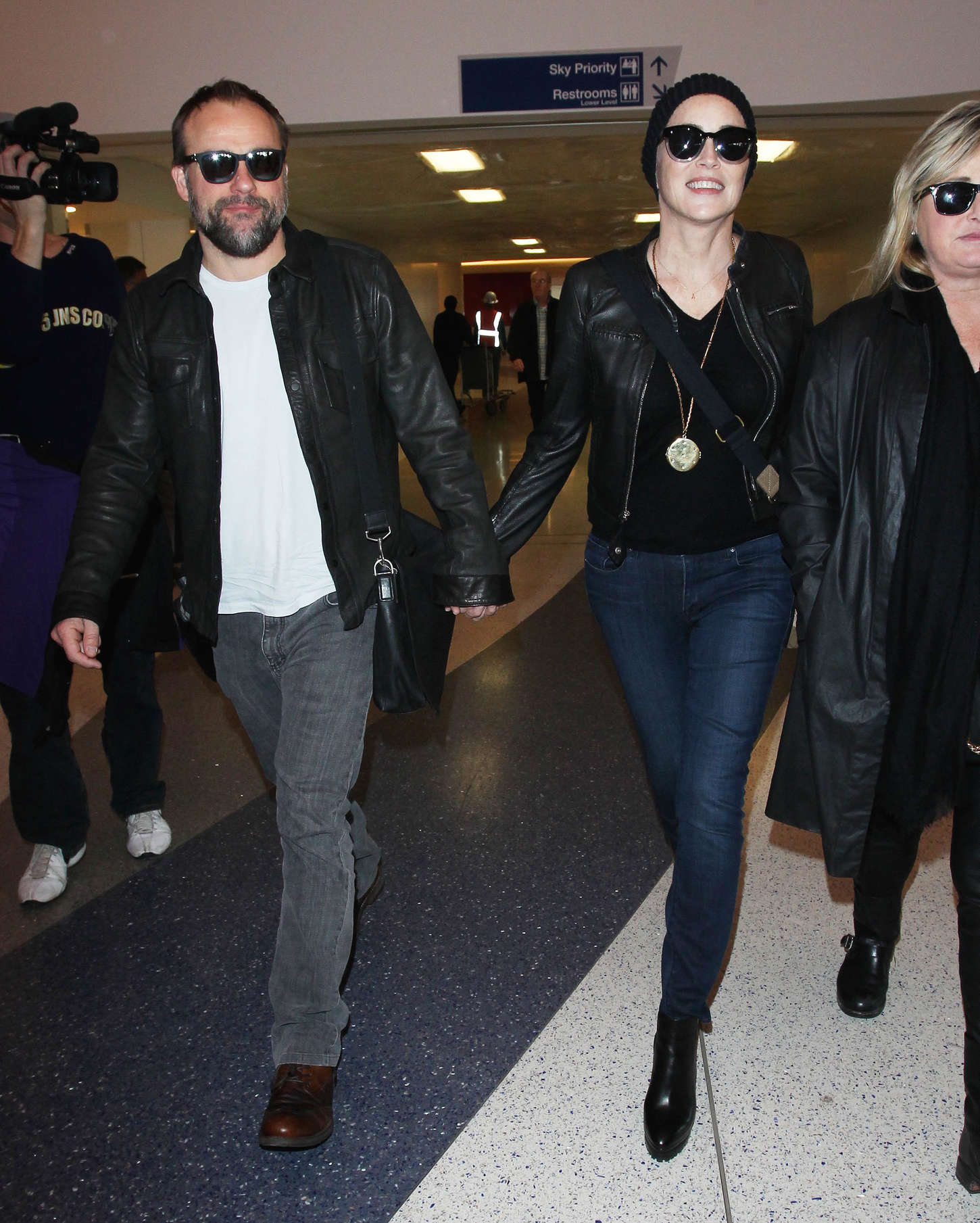 Sharon Stone Arrives at Los Angeles International Airport