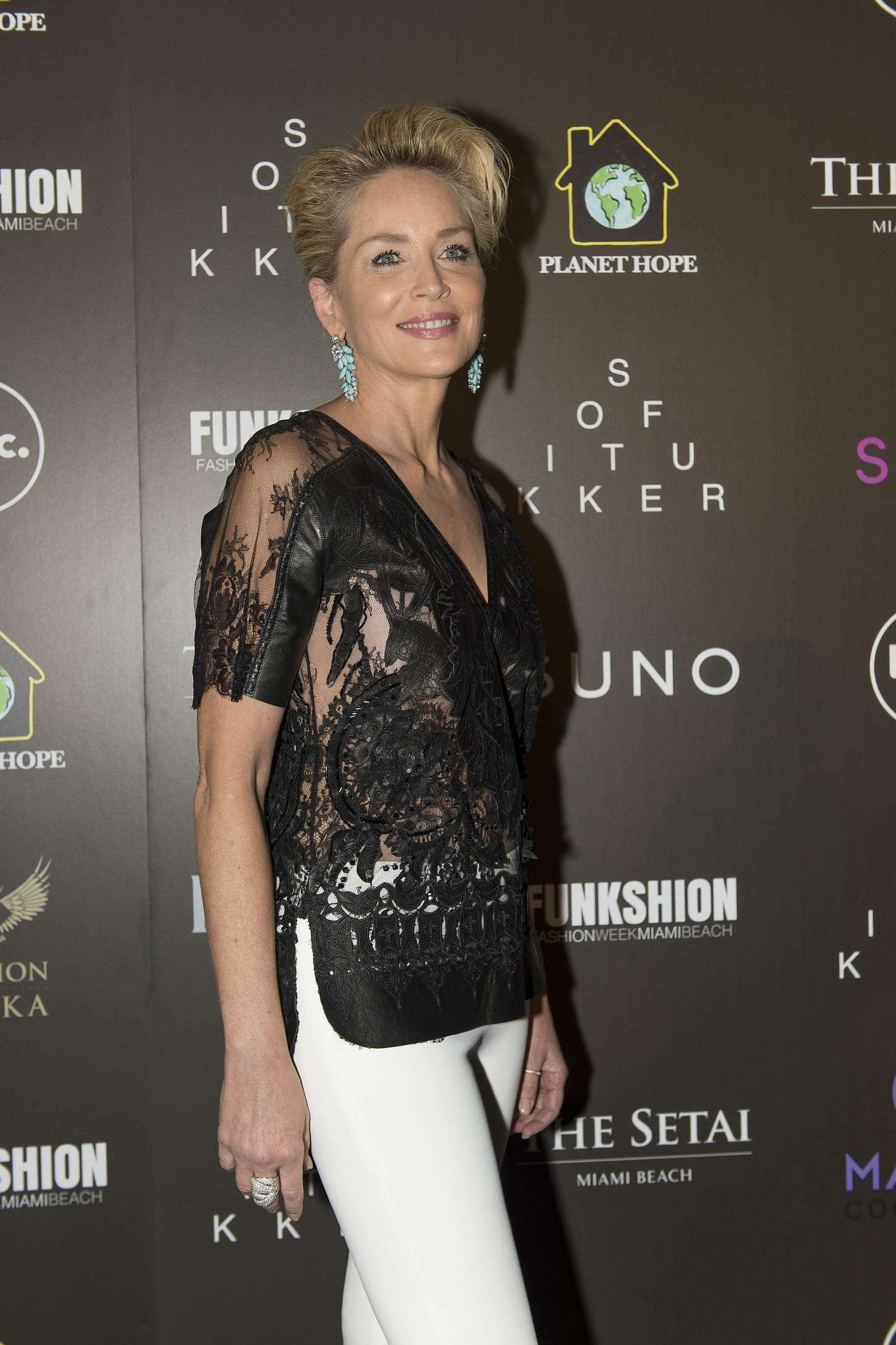 Sharon Stone Celebration of Hope Event by Planet Hope Foundation in Miami