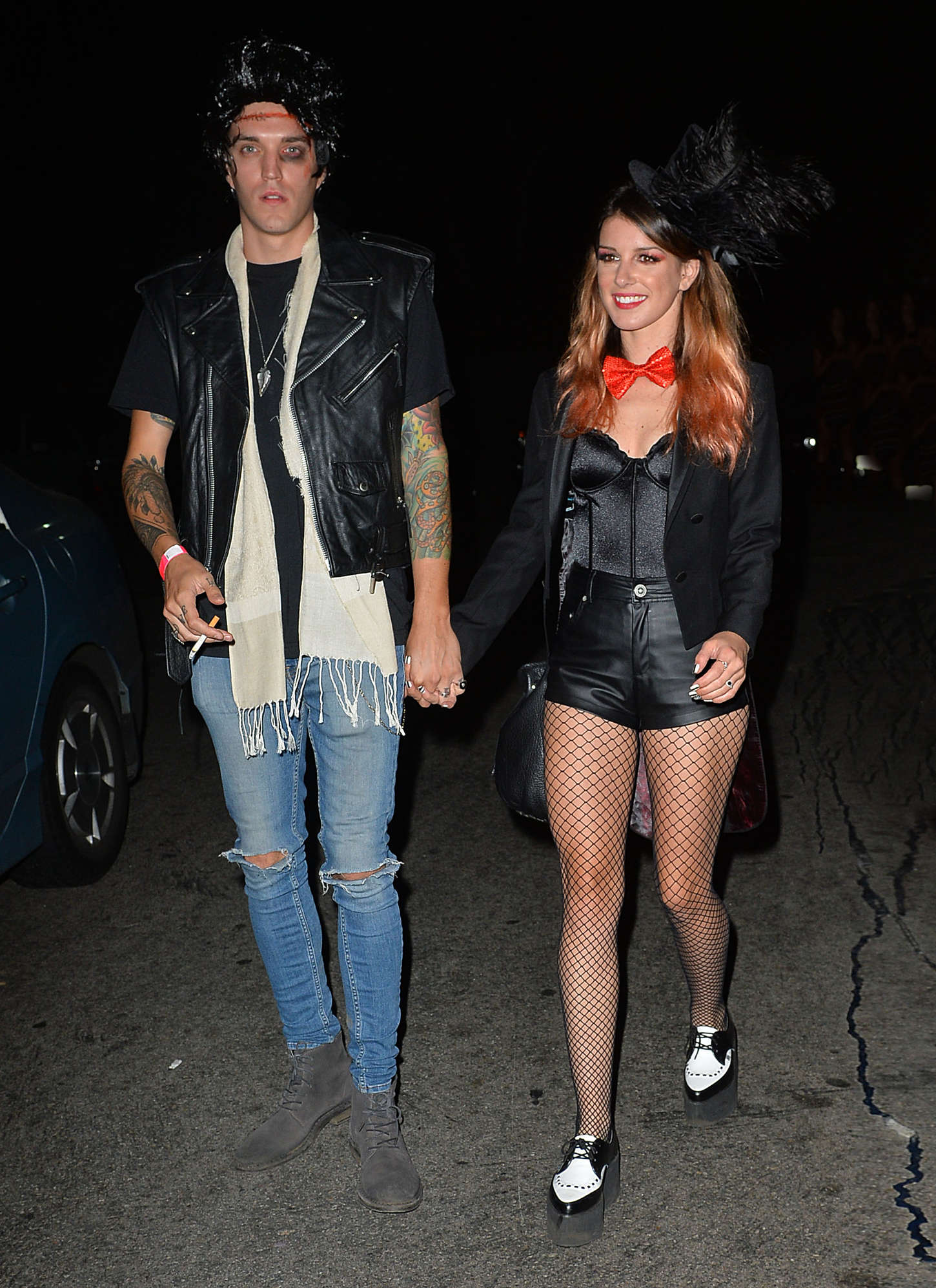Shenae Grimes Matthew Morrisons Halloween Party in West Hollywood