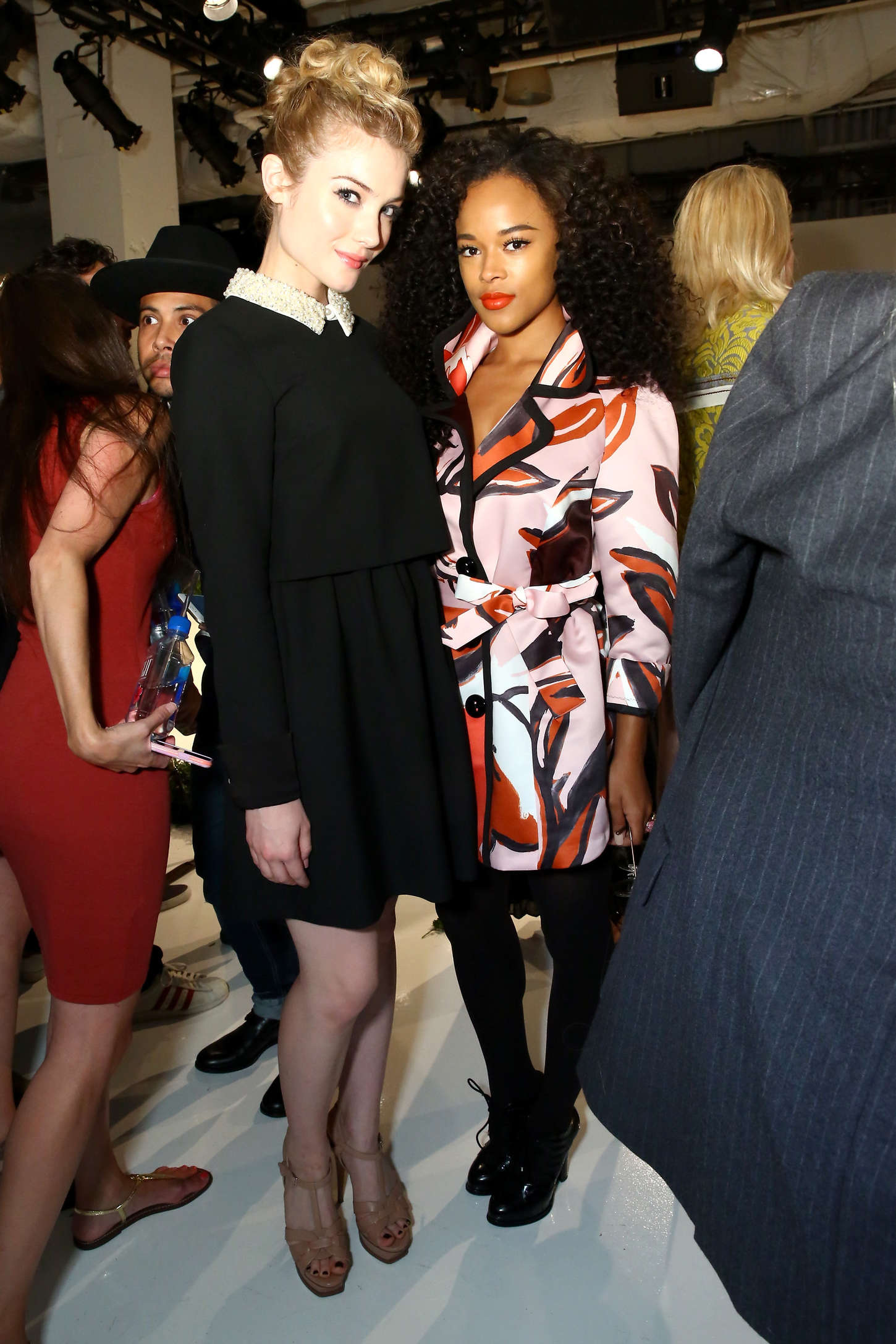Skyler Samuels and Rachel Zoe Fashion Show Spring NYFW in New York