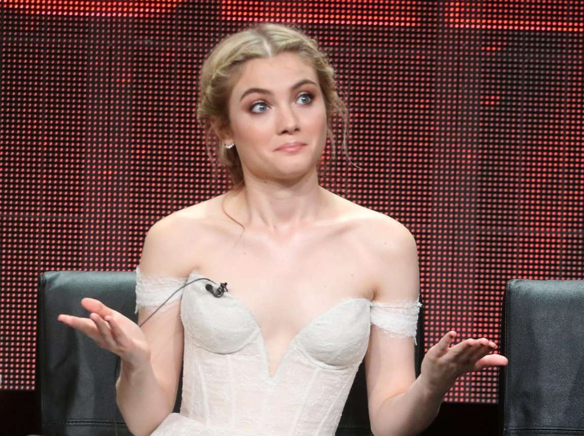 Skyler Samuels Scream Queens Panel Summer TCA Tour in Beverly Hills
