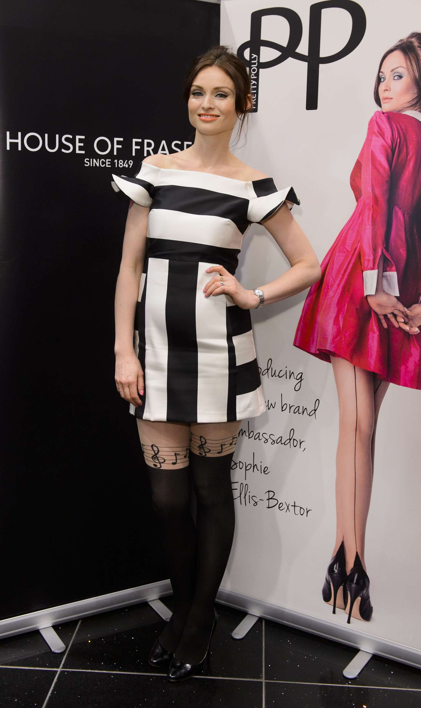 Sophie Ellis Bextor Pretty Polly Event at the House of Fraser in London