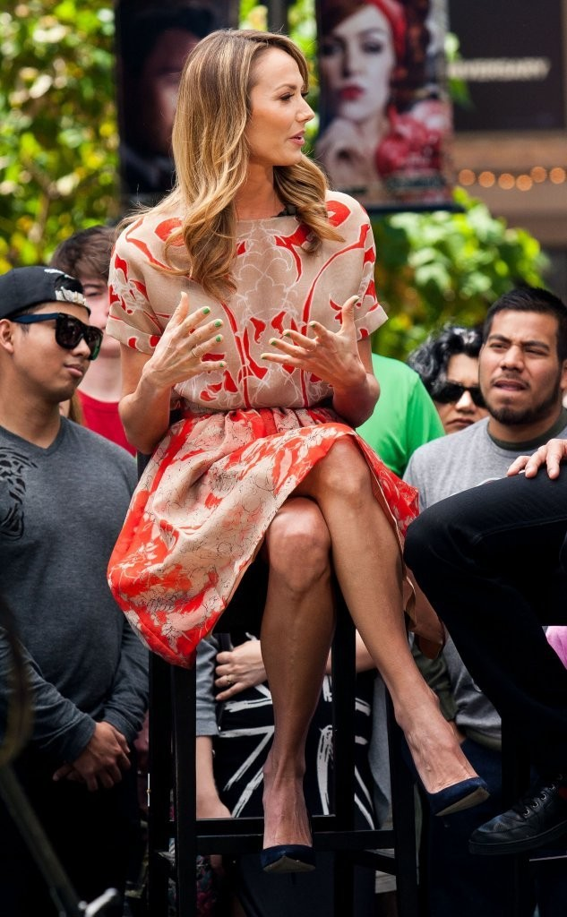 Stacy Keibler at Extra at the Grove