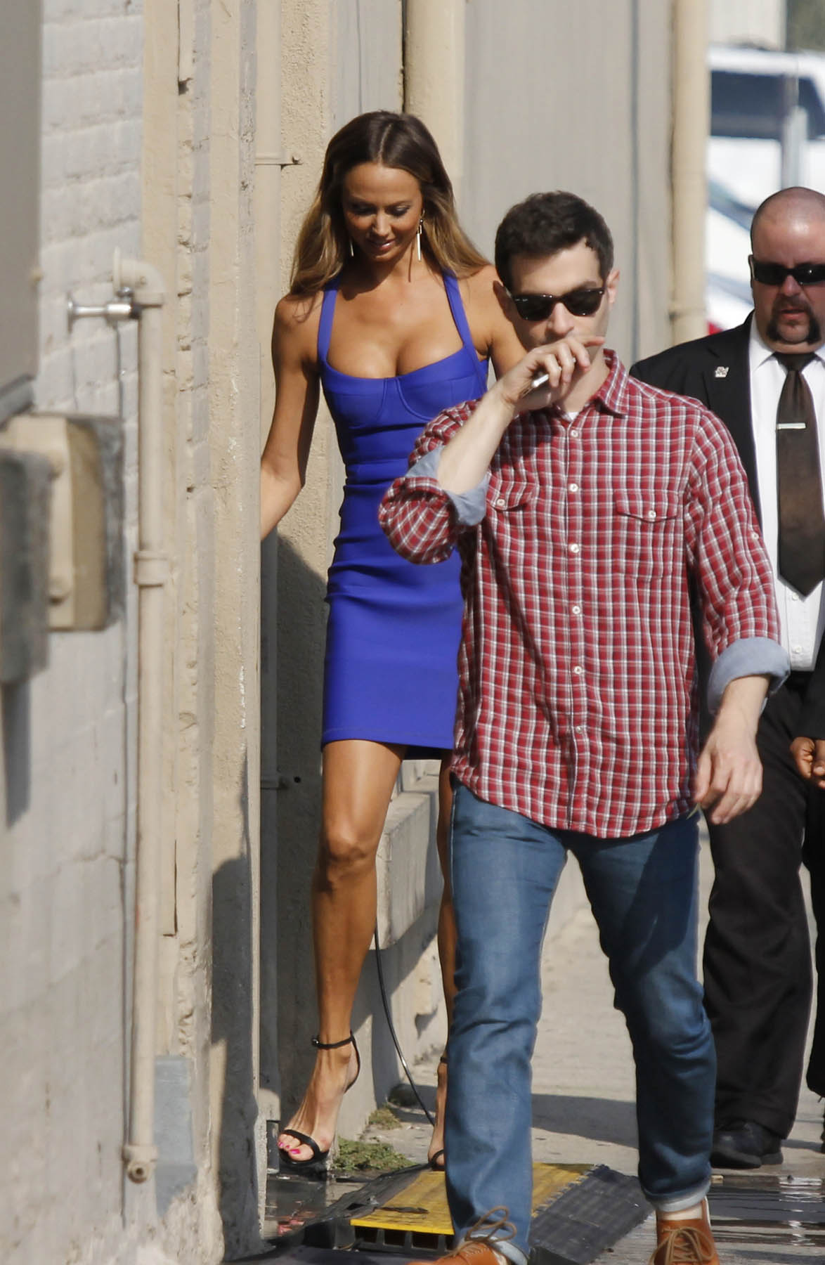 Stacy Keibler at Jimmy Kimmel Live