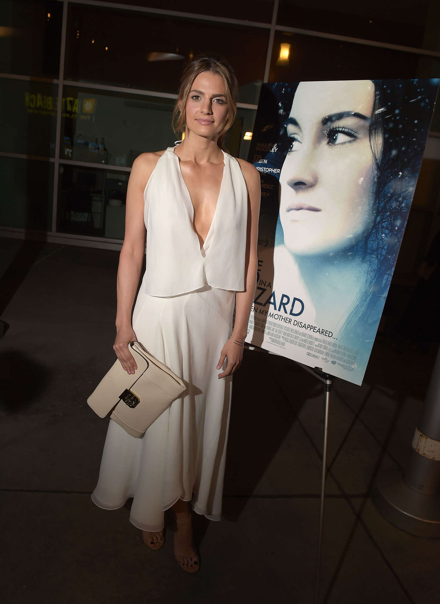 Stana Katic at Premiere White Bird in a Blizzard in Los Angeles