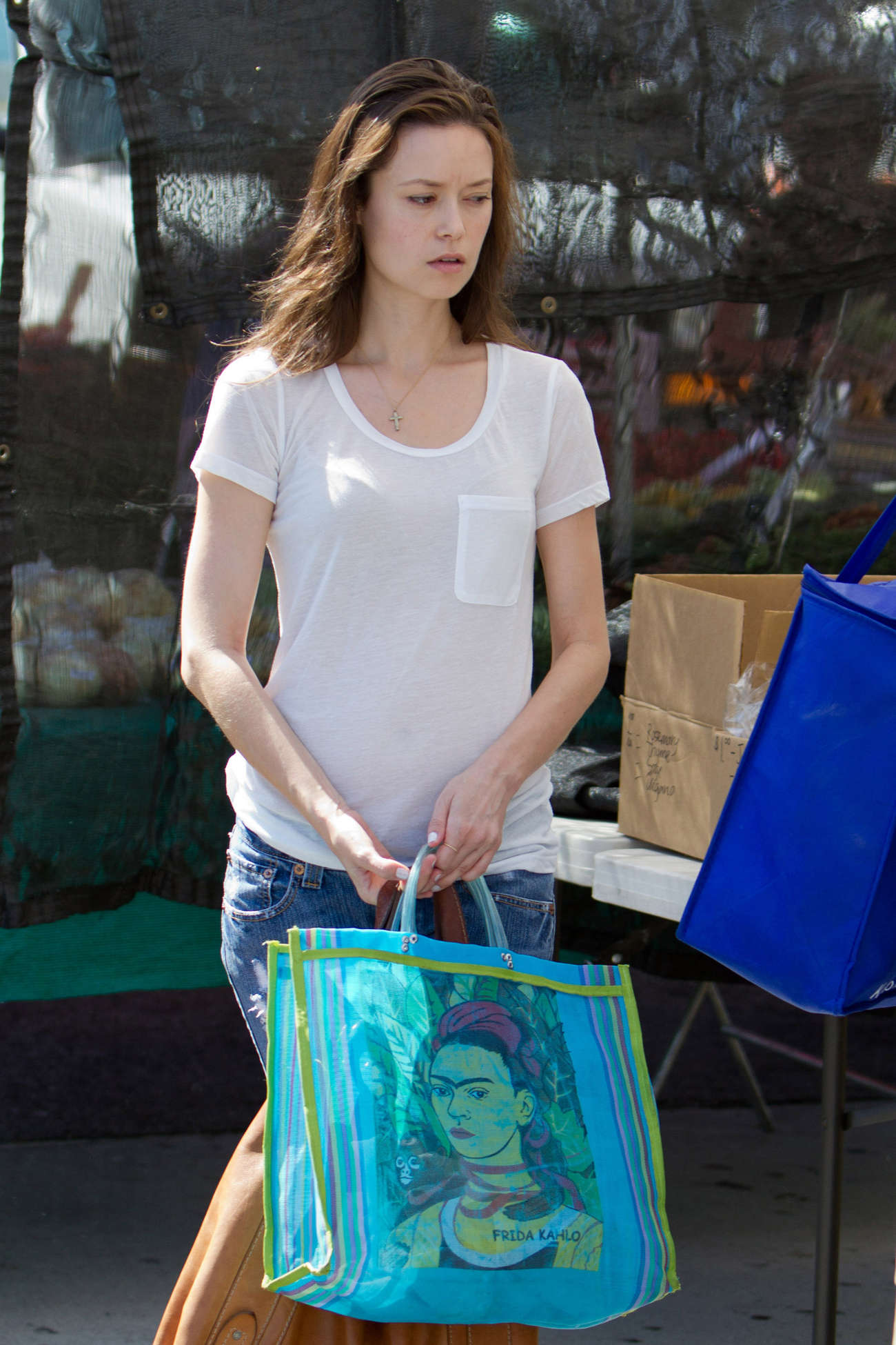 Summer Glau Shopping at Farmers Market in Studio City
