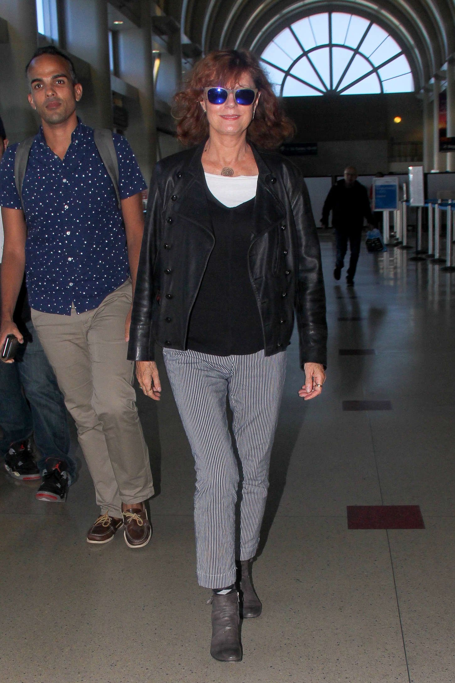 Susan Sarandon Arrives at LAX Airport in Los Angeles