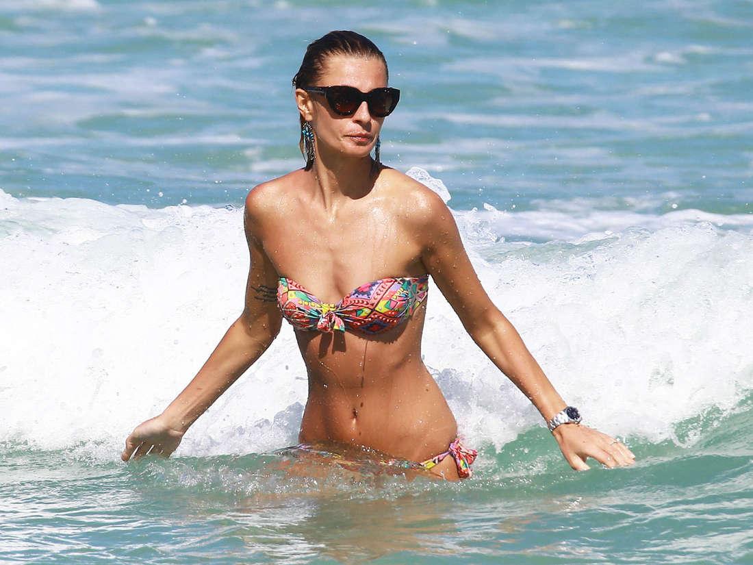 Sveva Alviti Bikini Candids in Miami