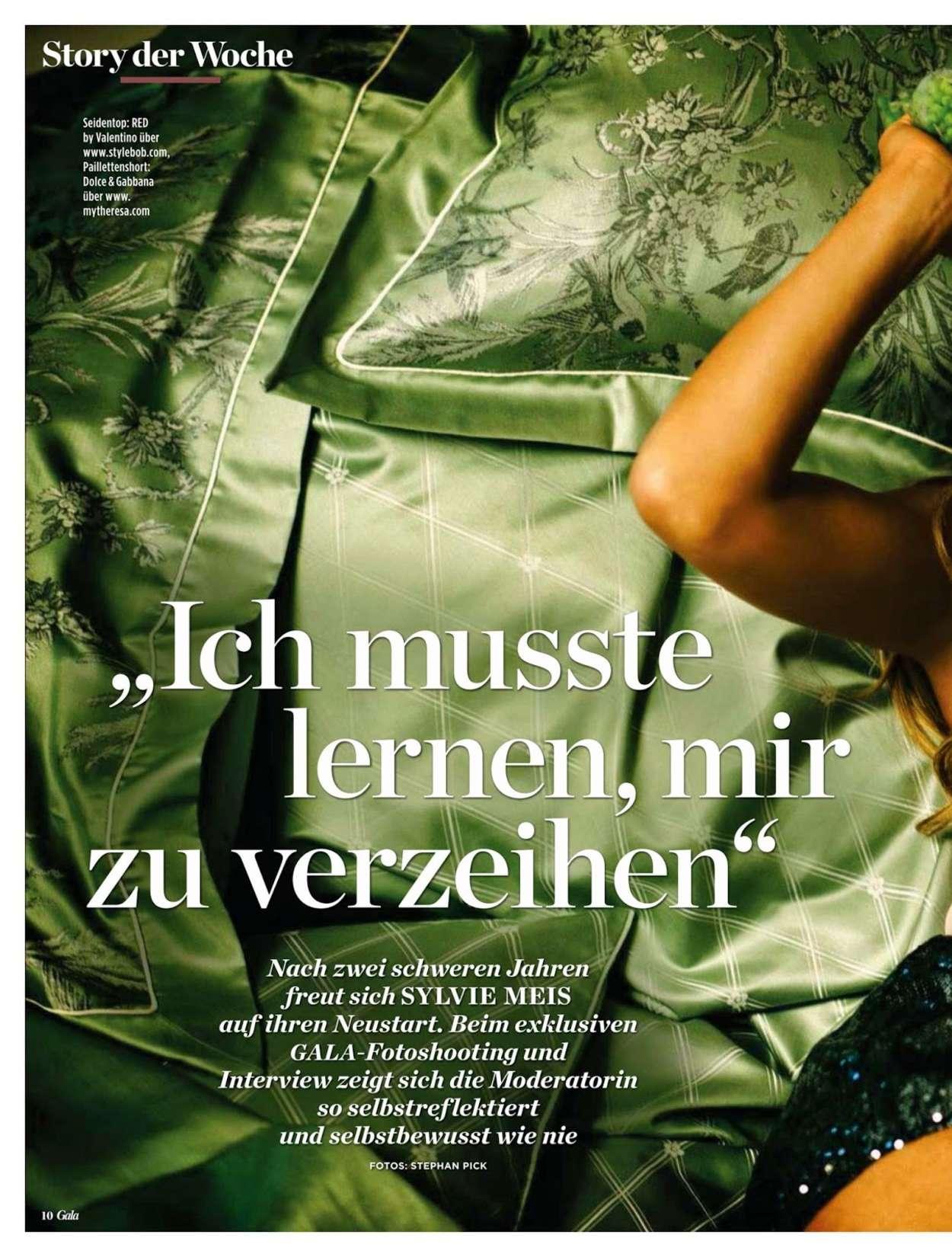 Sylvie Van Der Vaart Gala Germany Magazine