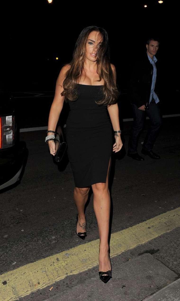 Tamara Ecclestone In Black Dress at Coya Restaurant