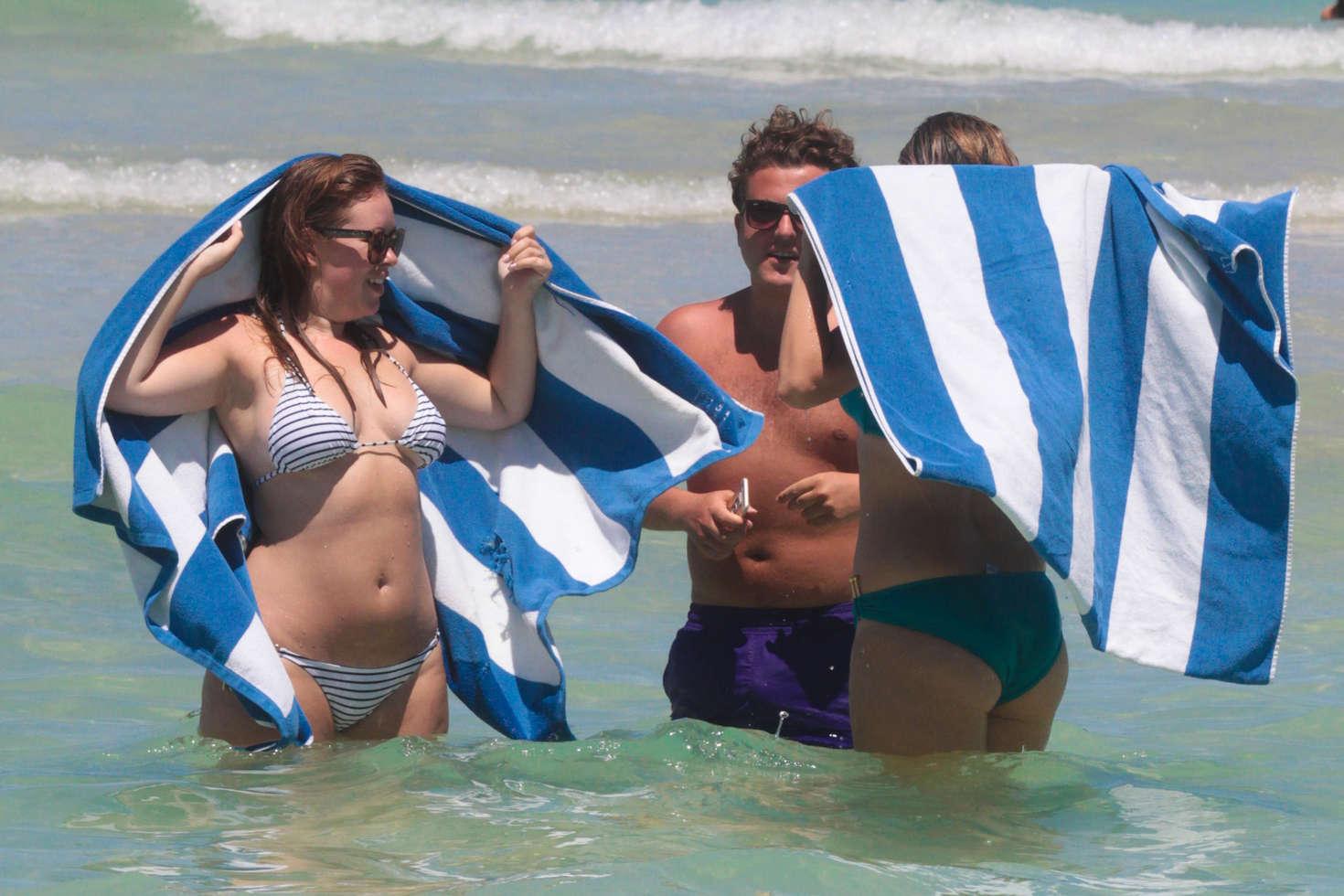 Tanya Burr in Bikini on Miami Beach