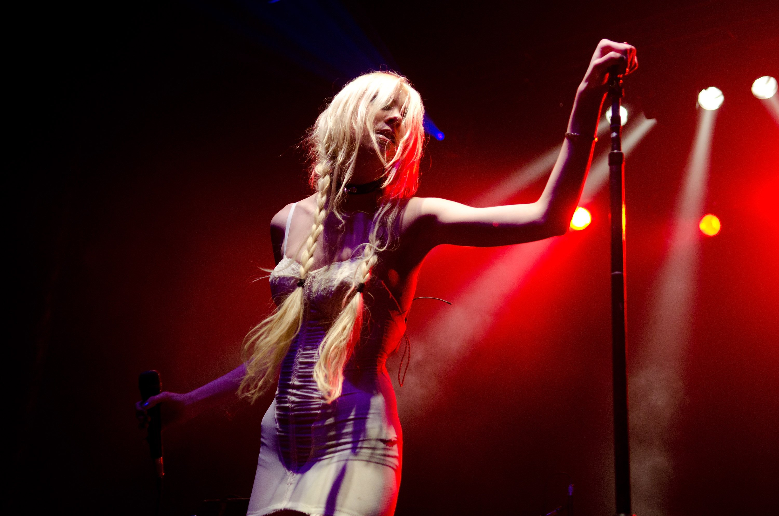 Taylor Momsen performs on stage at The Rave Eagles Club