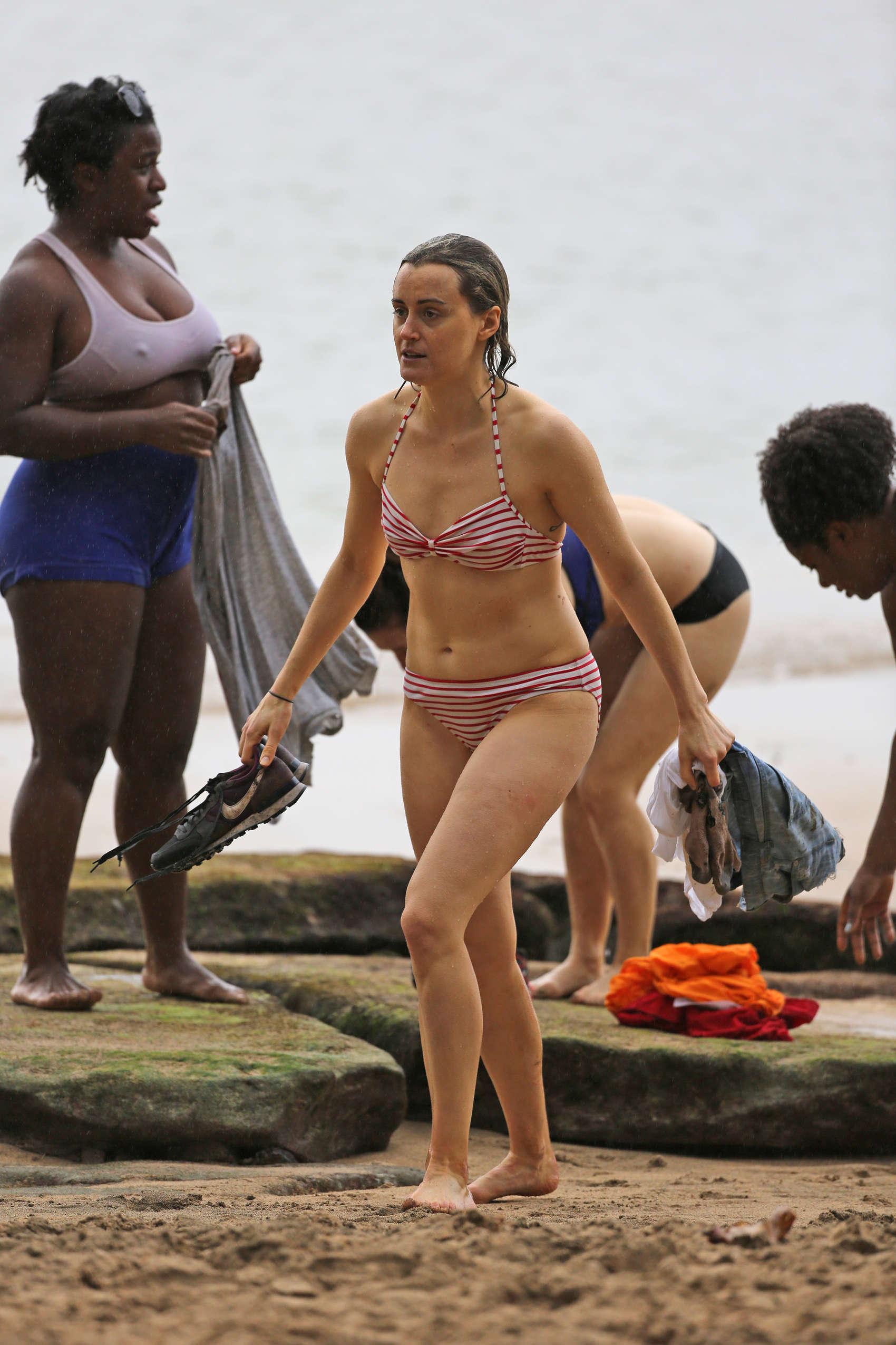 Taylor Schilling Wearing a bikini in Hawaii