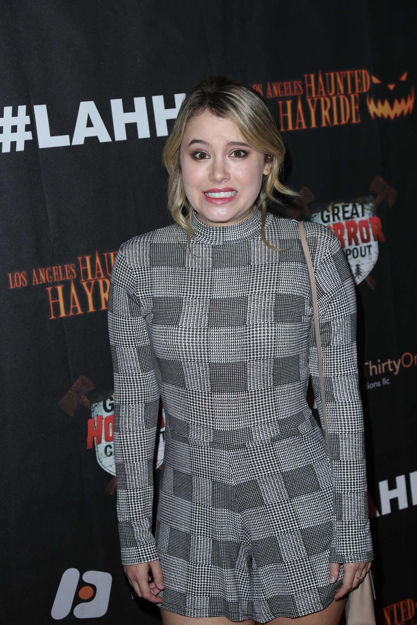 Taylor Spreitler Los Angeles Haunted Hayride Black Carpet Premiere Night