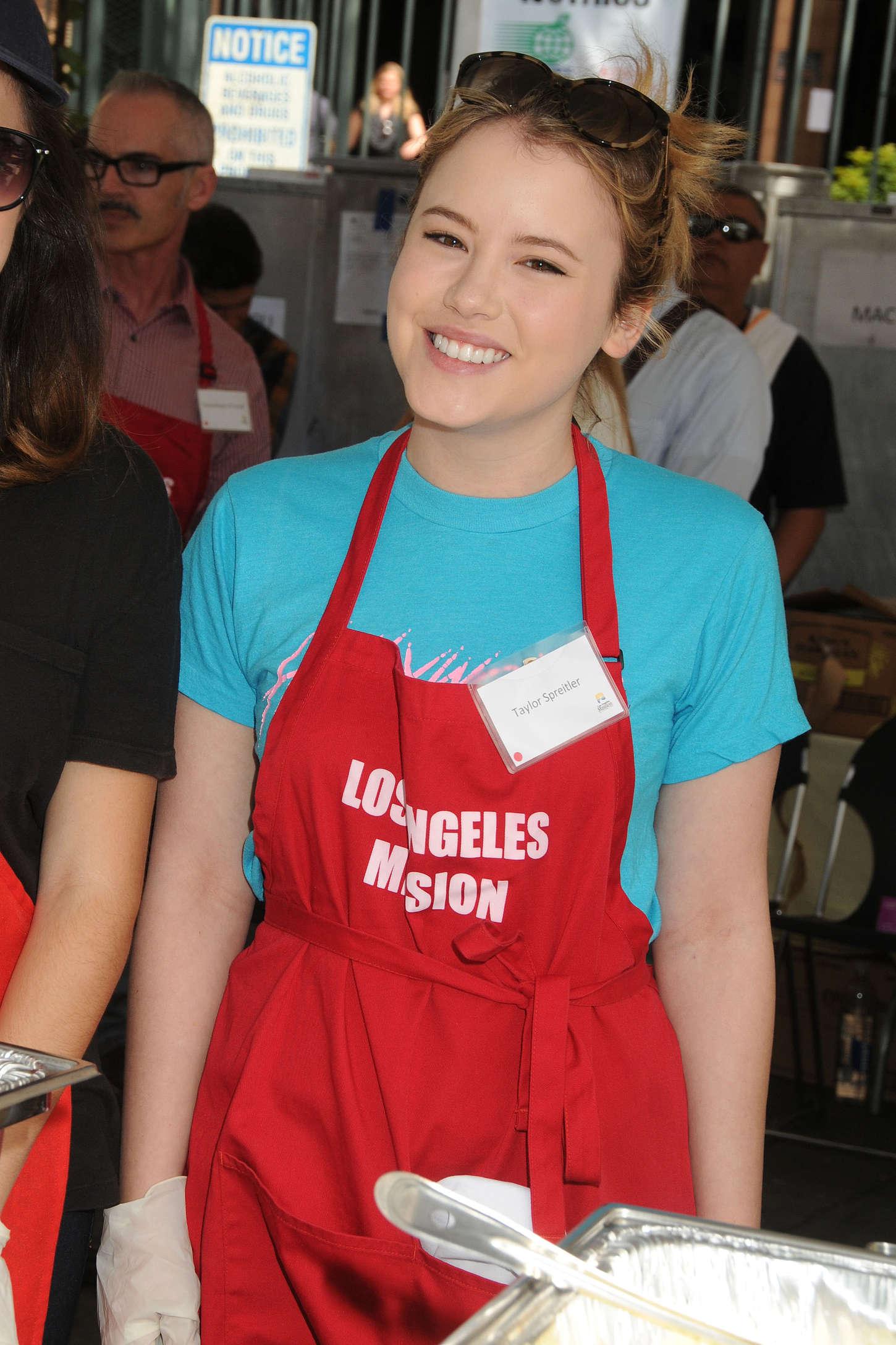 Taylor Spreitler Los Angeles Mission Easter Event