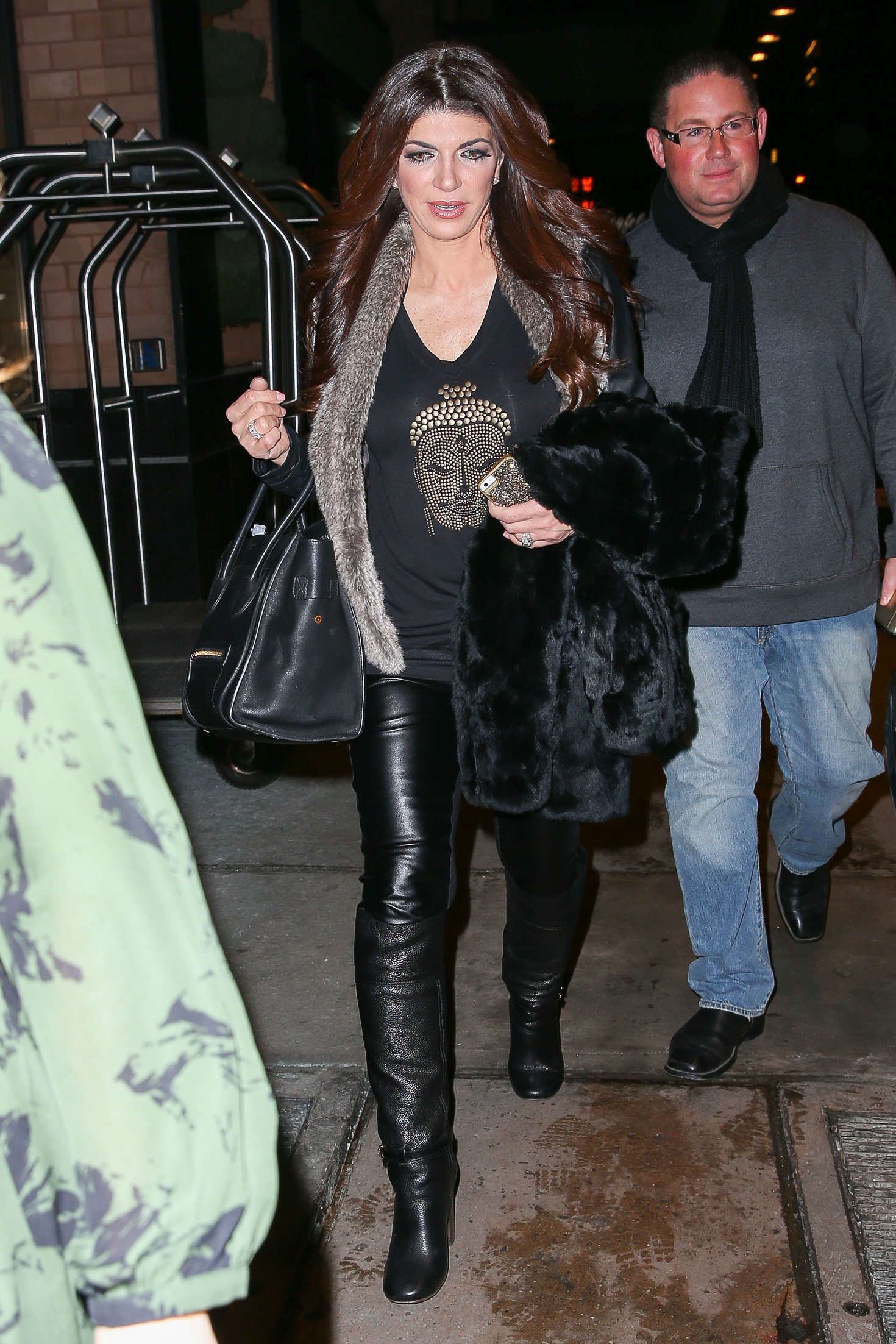 Teresa Giudice in Black Leather out in New York