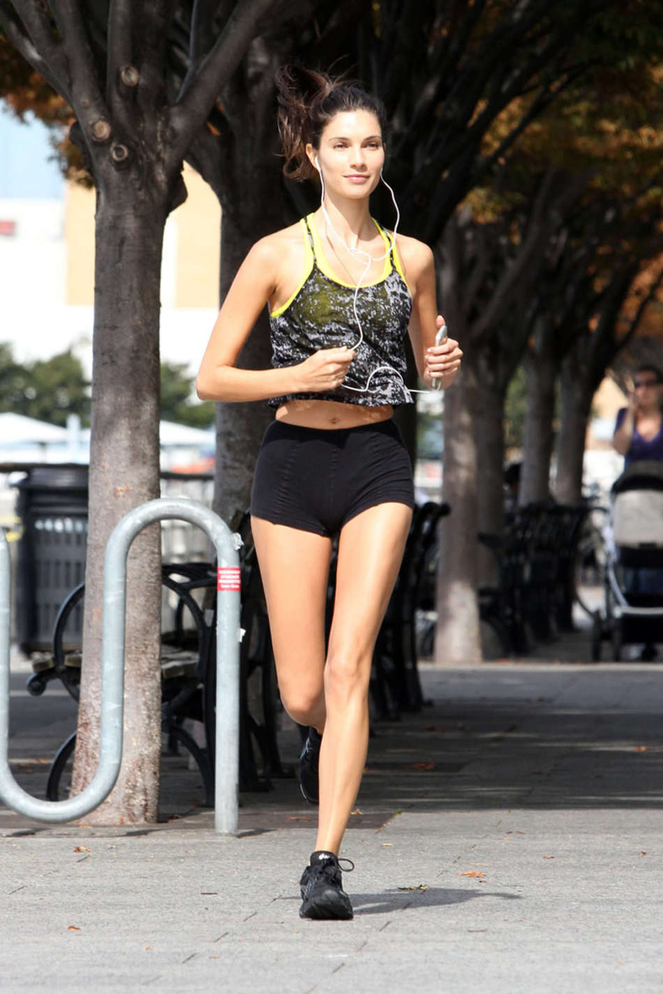 Teresa Moore in Shorts Jogging out in in New York