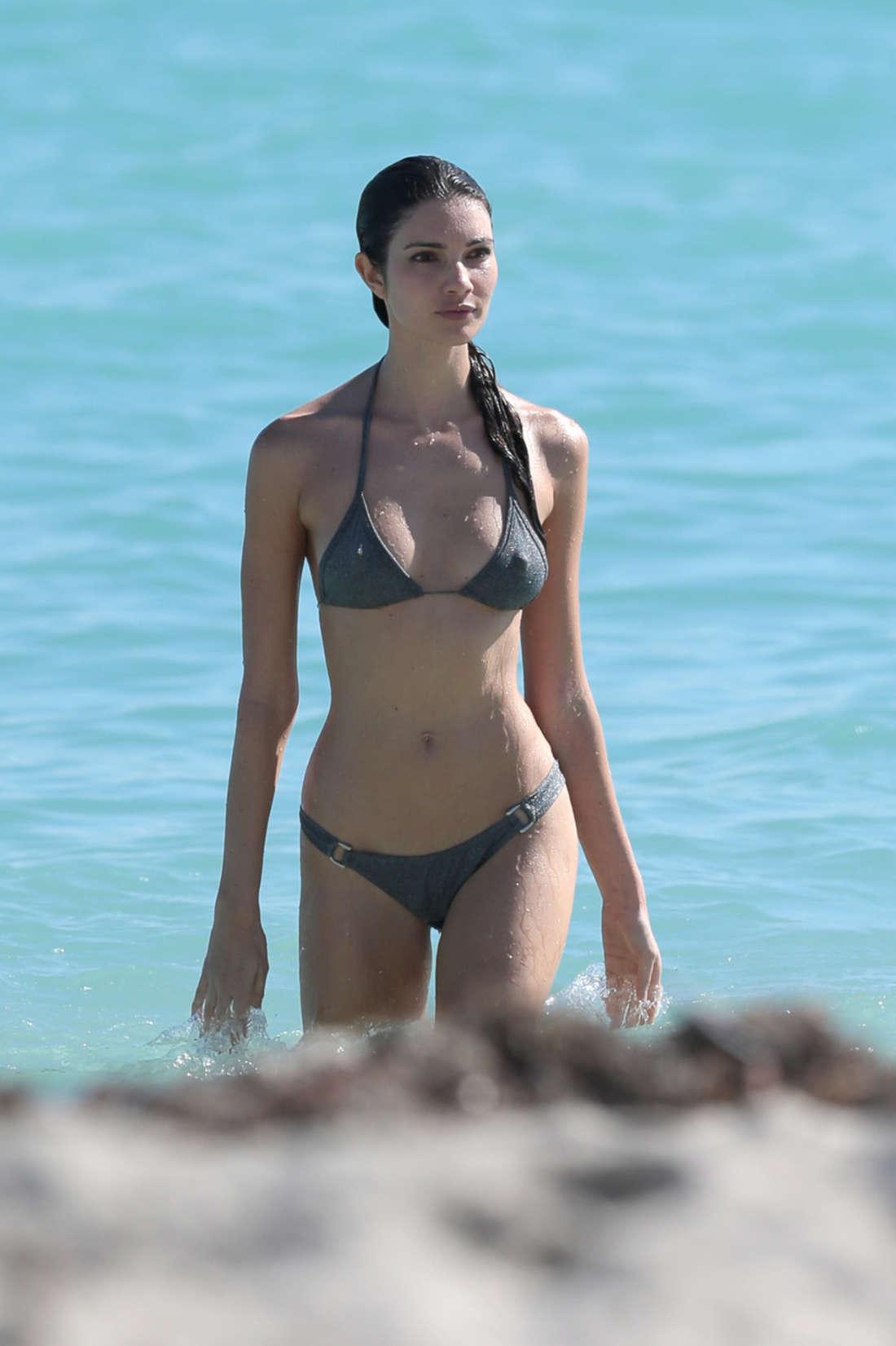 Teresa Moore Wearing Bikini in Miami